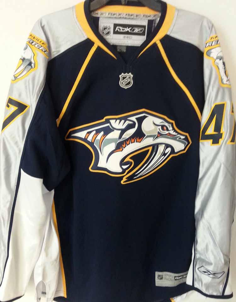Reebok premier nhl jersey nashville predators alexander for Nashville predators jersey