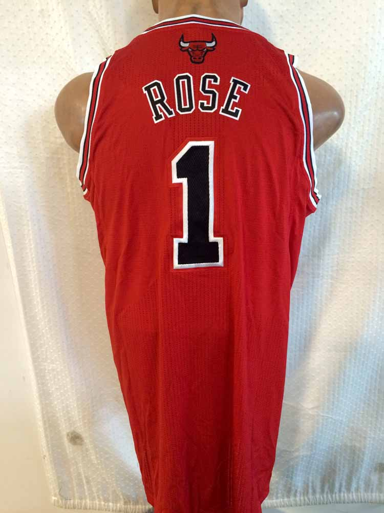 Adidas Authentic NBA Jersey Chicago Bulls Derrick Rose Red ...