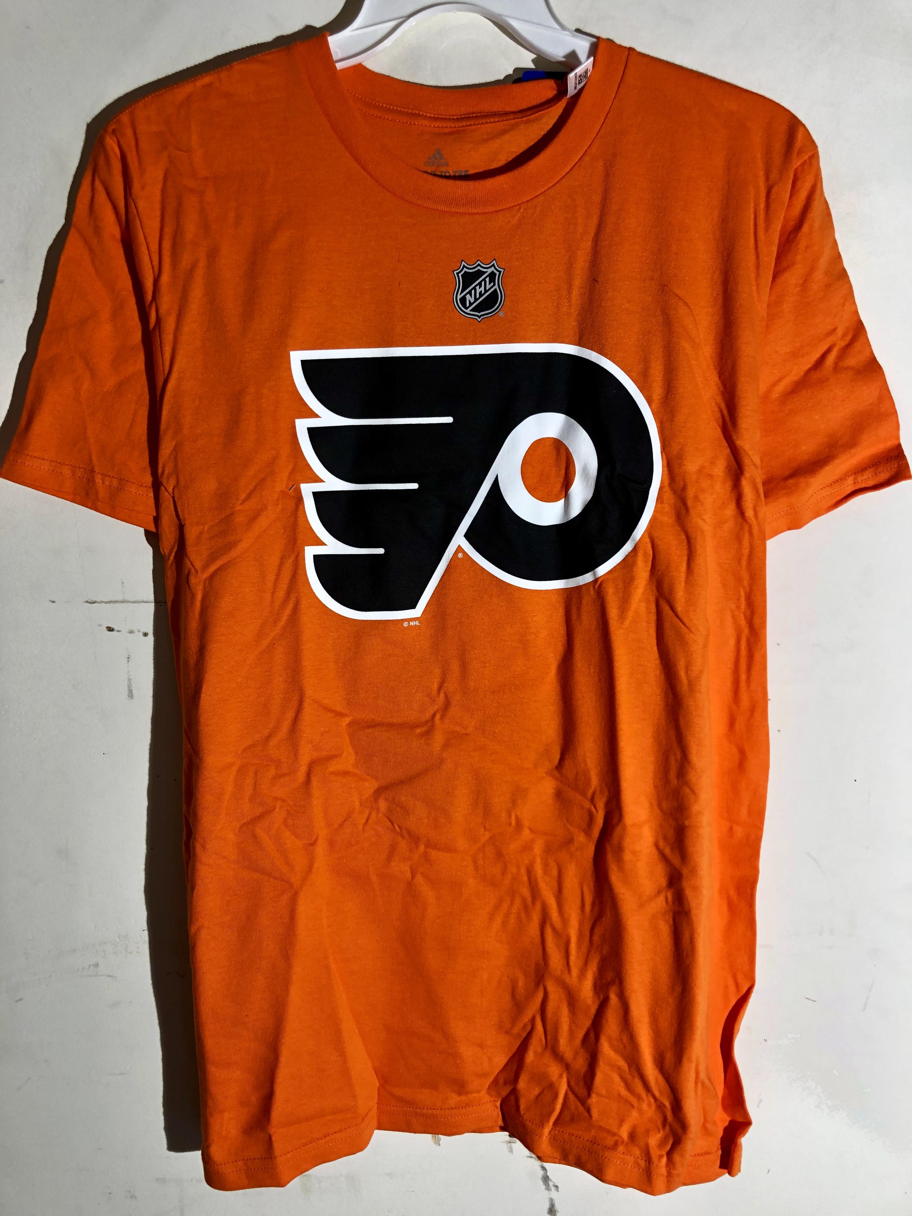 best website 979c1 ae999 Details about adidas NHL T-Shirt Philadelphia Flyers Ivan Provorov Orange  sz M