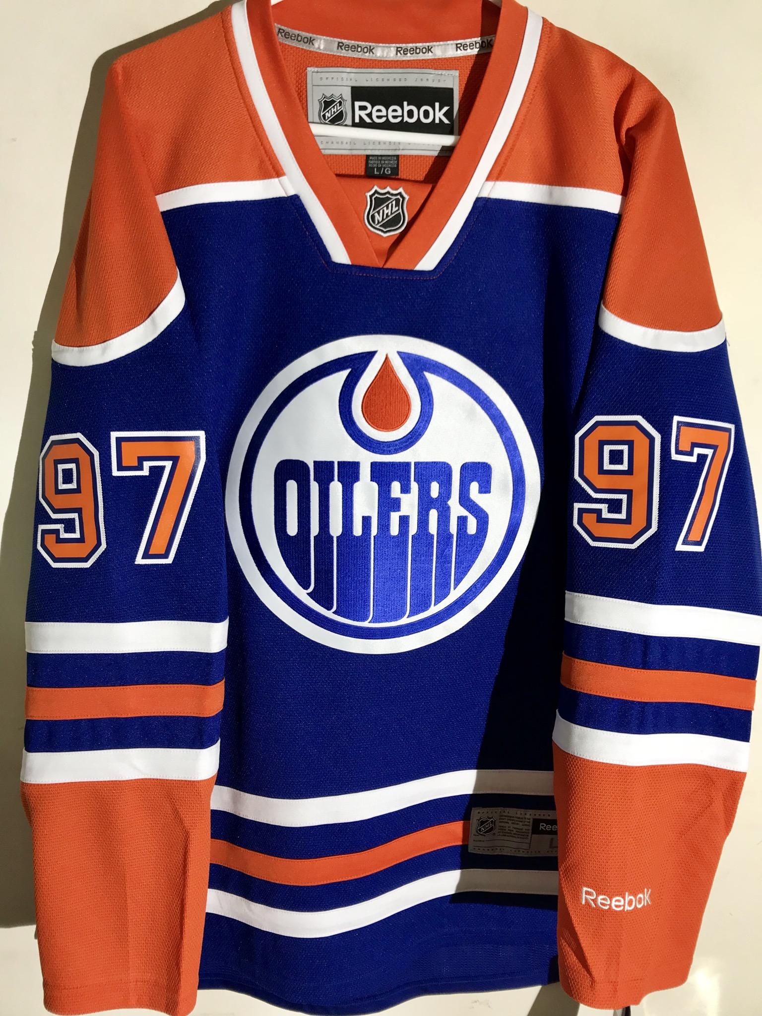 Reebok Premier NHL Jersey Edmonton OIlers Connor McDavid Blue sz 2X ... 12f50df13