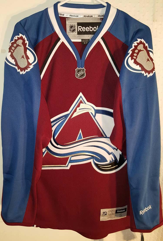 sale retailer 17819 90fe6 Details about Reebok Premier NHL Jersey Colorado Avalanche Team Burgundy sz  S