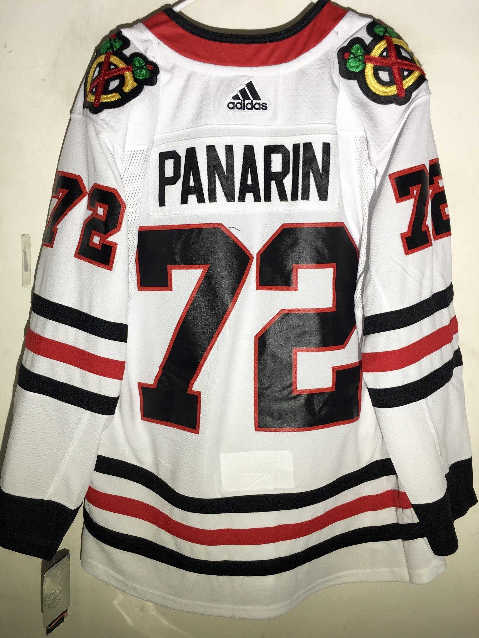 low priced a7496 a88a4 Details about adidas Authentic NHL Jersey Chicago Blackhawks Artemi Panarin  White sz 54