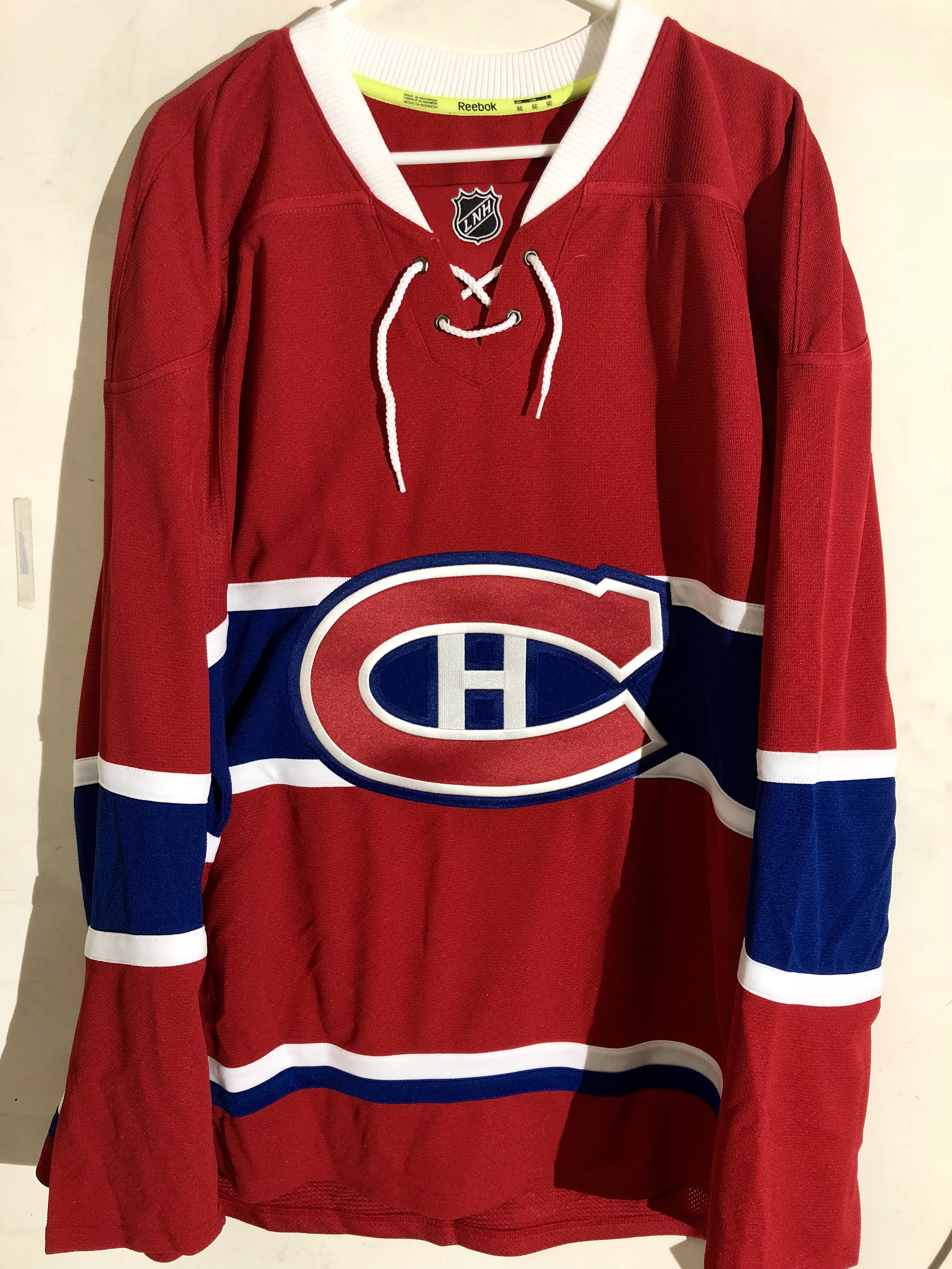 new arrivals f25e8 5f527 Details about Reebok Authentic NHL Jersey Montreal Canadiens Team Red sz 60
