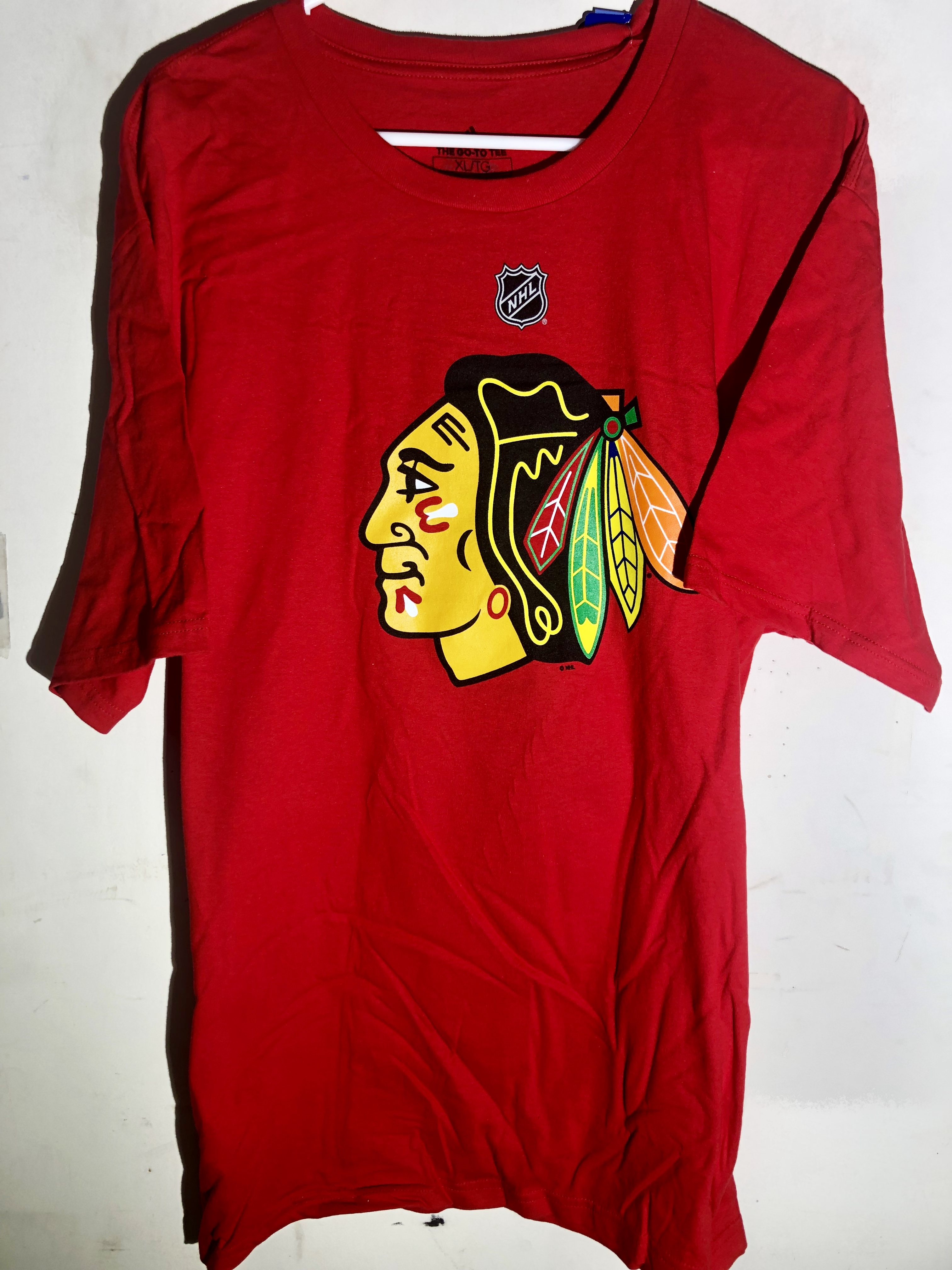 Red NHL Youths Brent Seabrook Chicago Blackhawks Short Sleeve Player Tee Boys