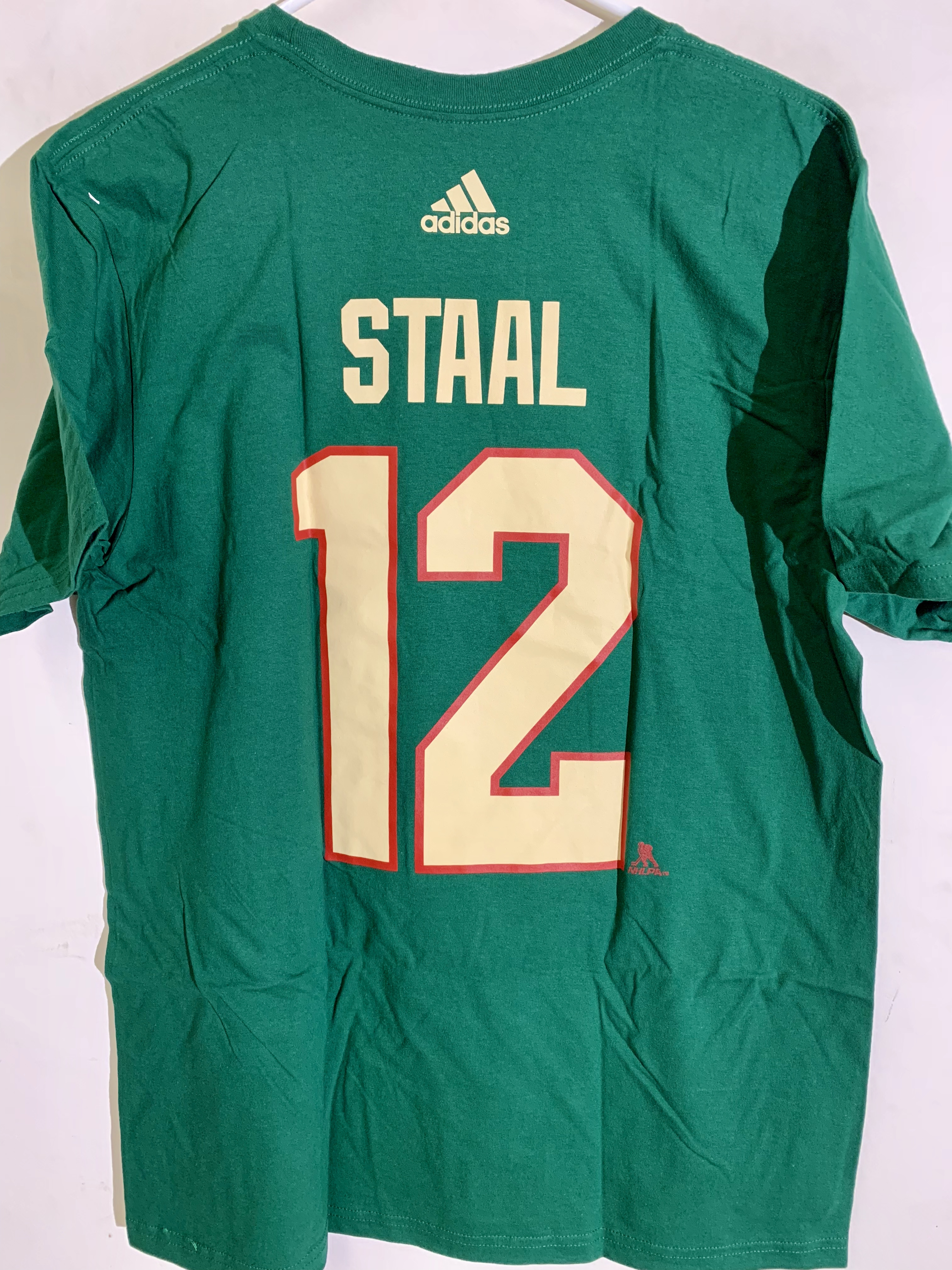 Details about adidas NHL T-Shirt Minnesota Wild Eric Staal Green sz 2X 8f5958ae1