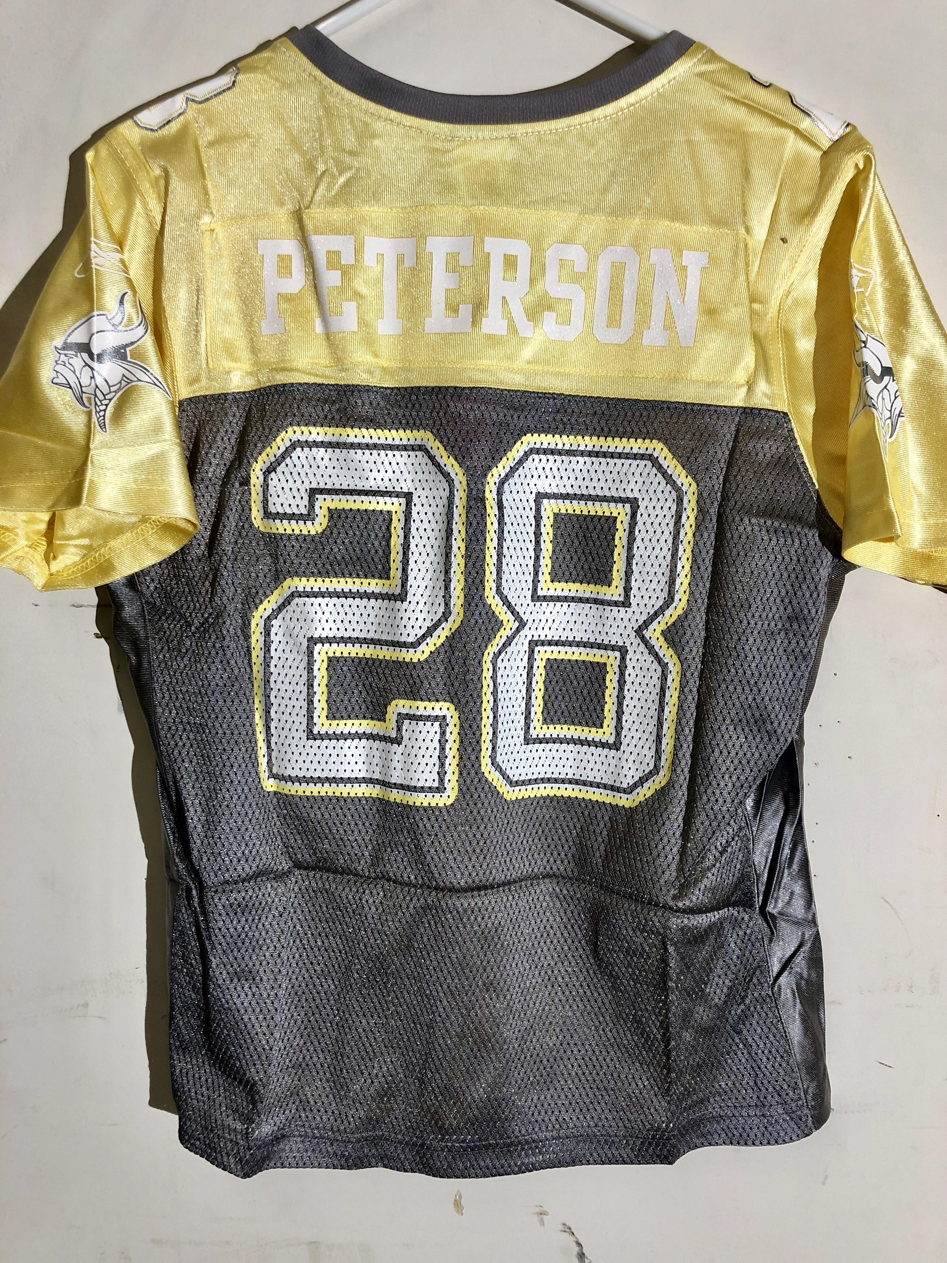 Reebok Women's NFL Jersey Minnesota Vikings Adrian Peterson Yellow ...
