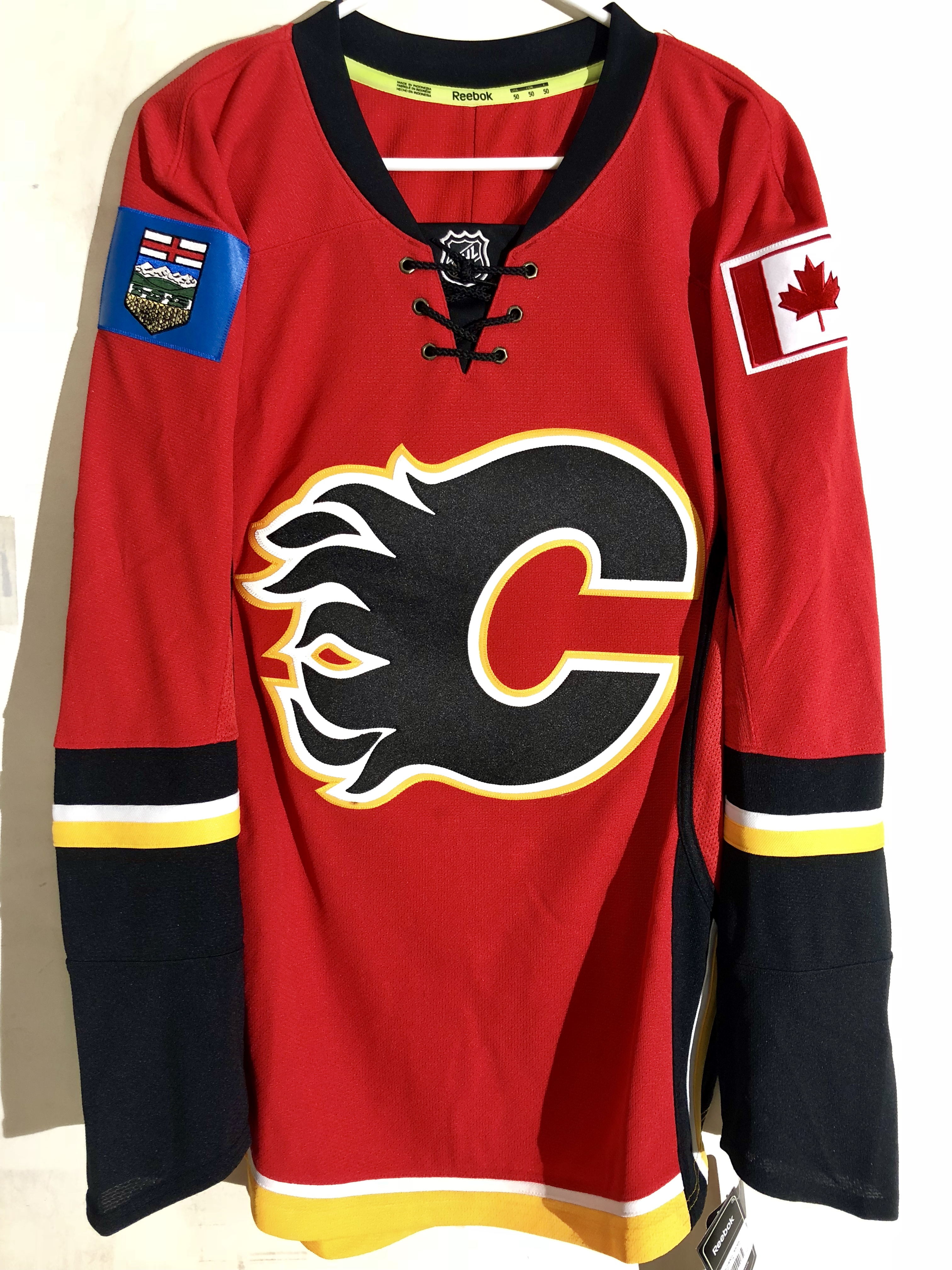 NHL Jersey Calgary Flames Team Red sz