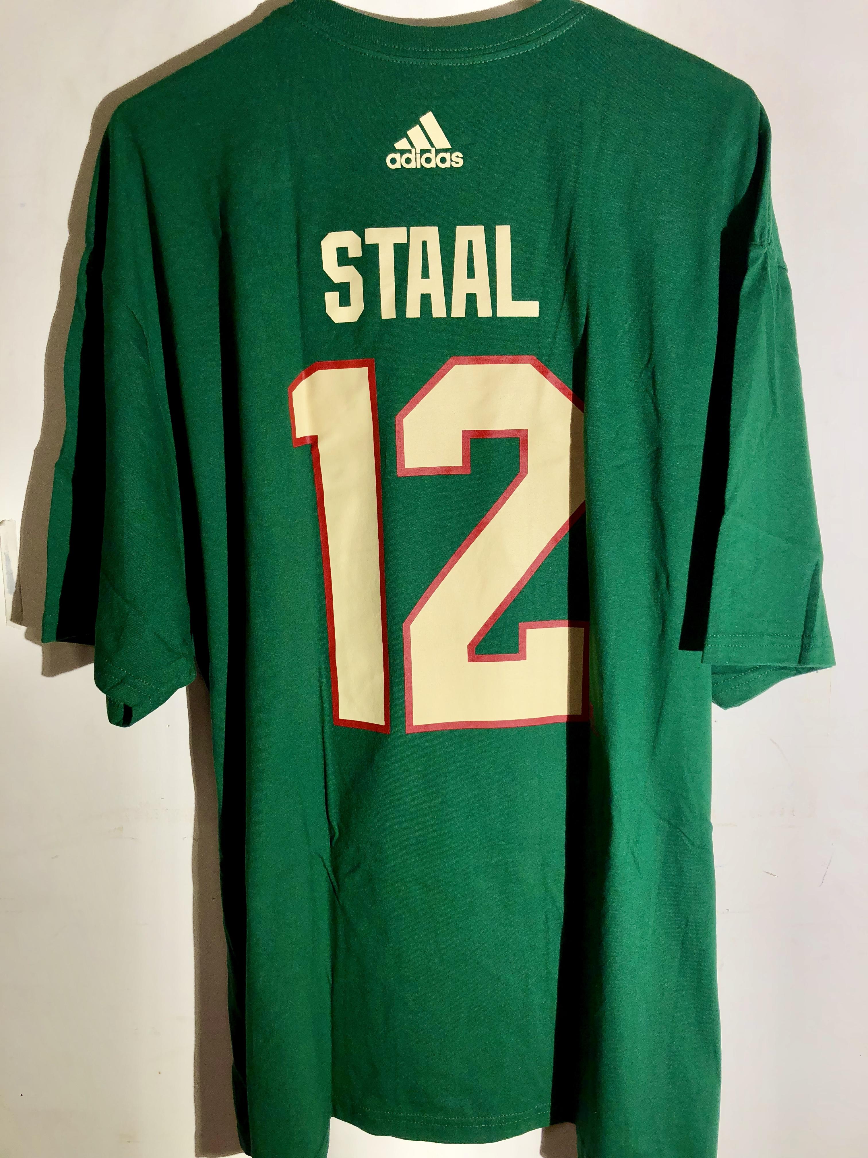 f5adf26da adidas NHL Tee Minnesota Wild Eric Staal Green sz M | eBay