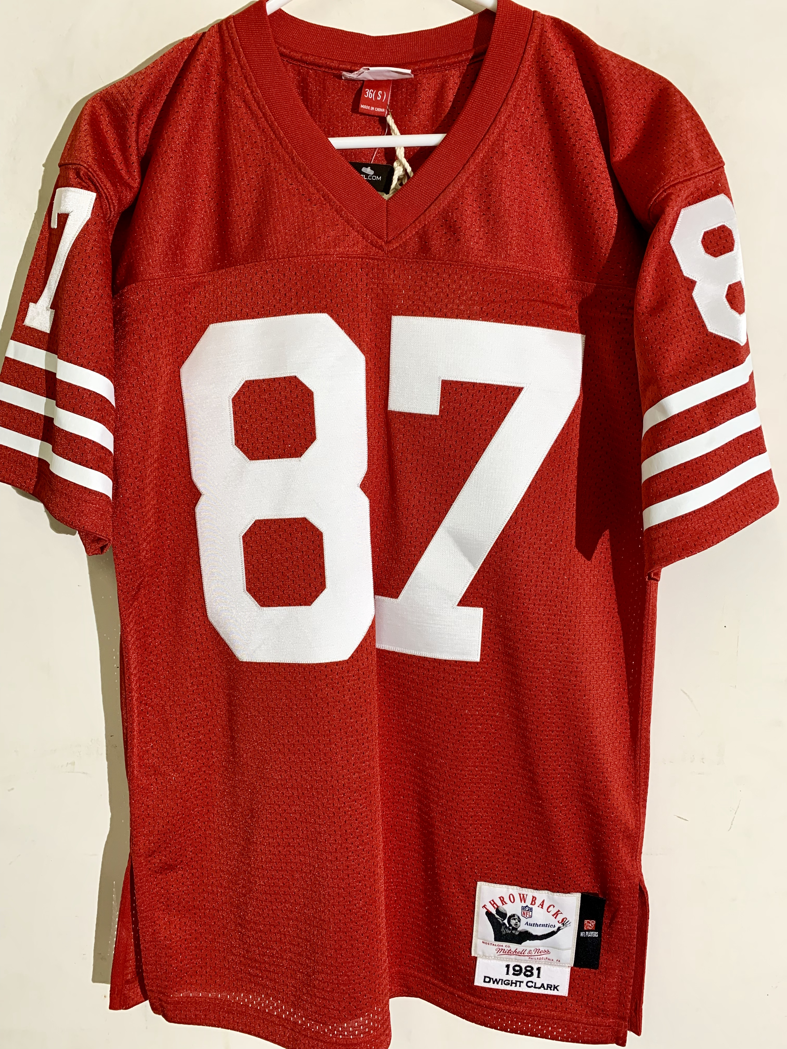 a3c6b5c9b Reebok Authentic NFL Jersey San Francisco 49ers Clark Red sz 36