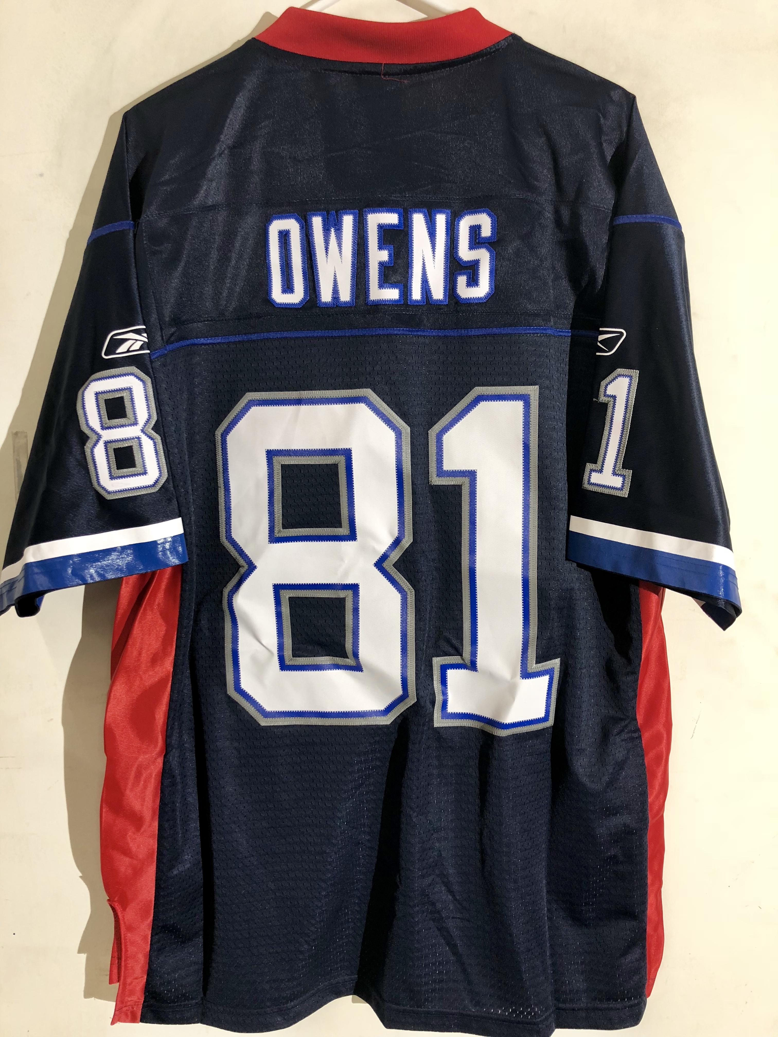 official photos a416a 7f378 Details about Reebok Premier NFL Jersey Buffalo Bills Terrell Owens Navy sz  S