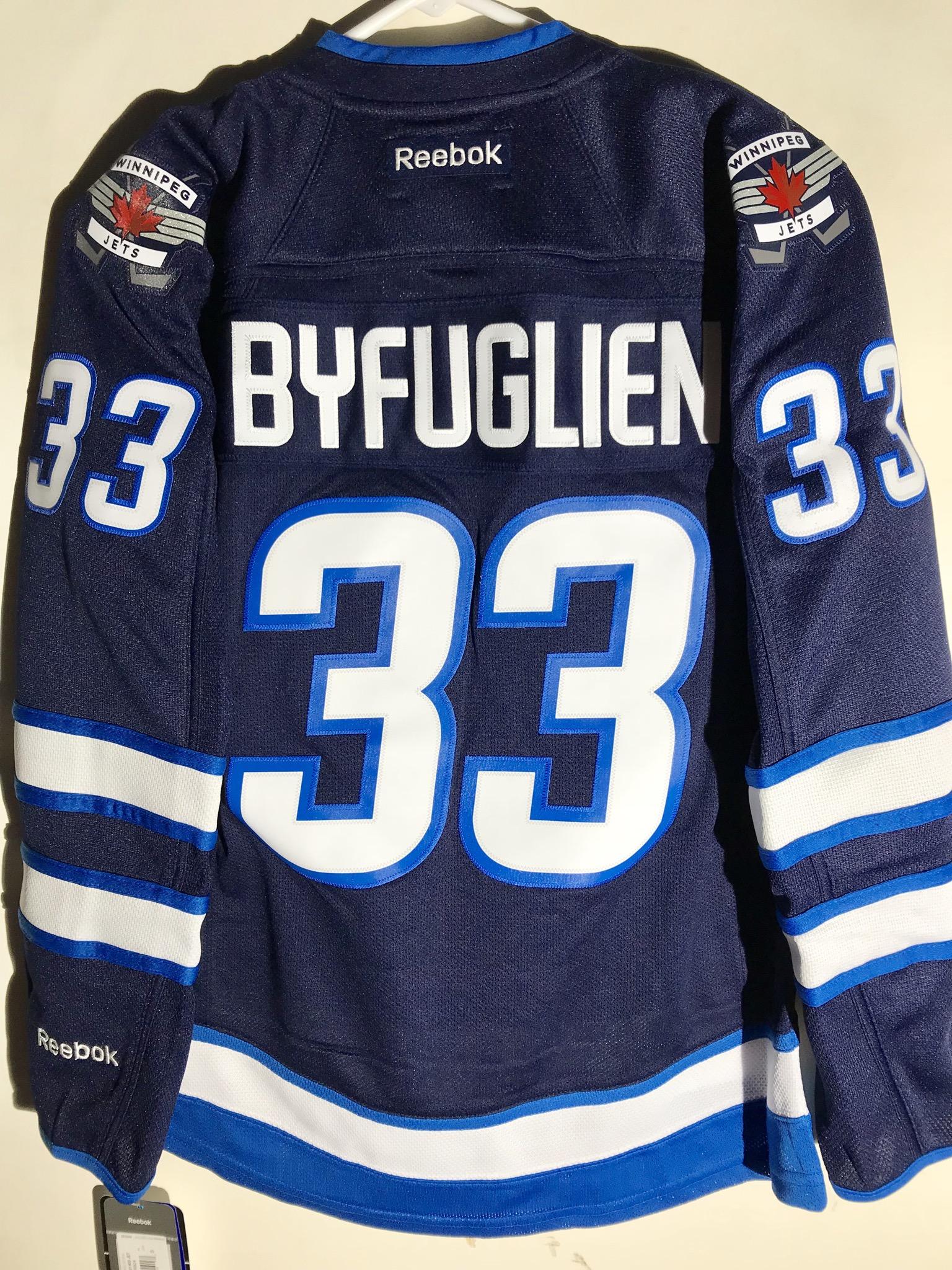 637022fbf57 Details about Reebok Women s Premier NHL Jersey Winnipeg Jets Dustin  Byfuglien Navy sz S