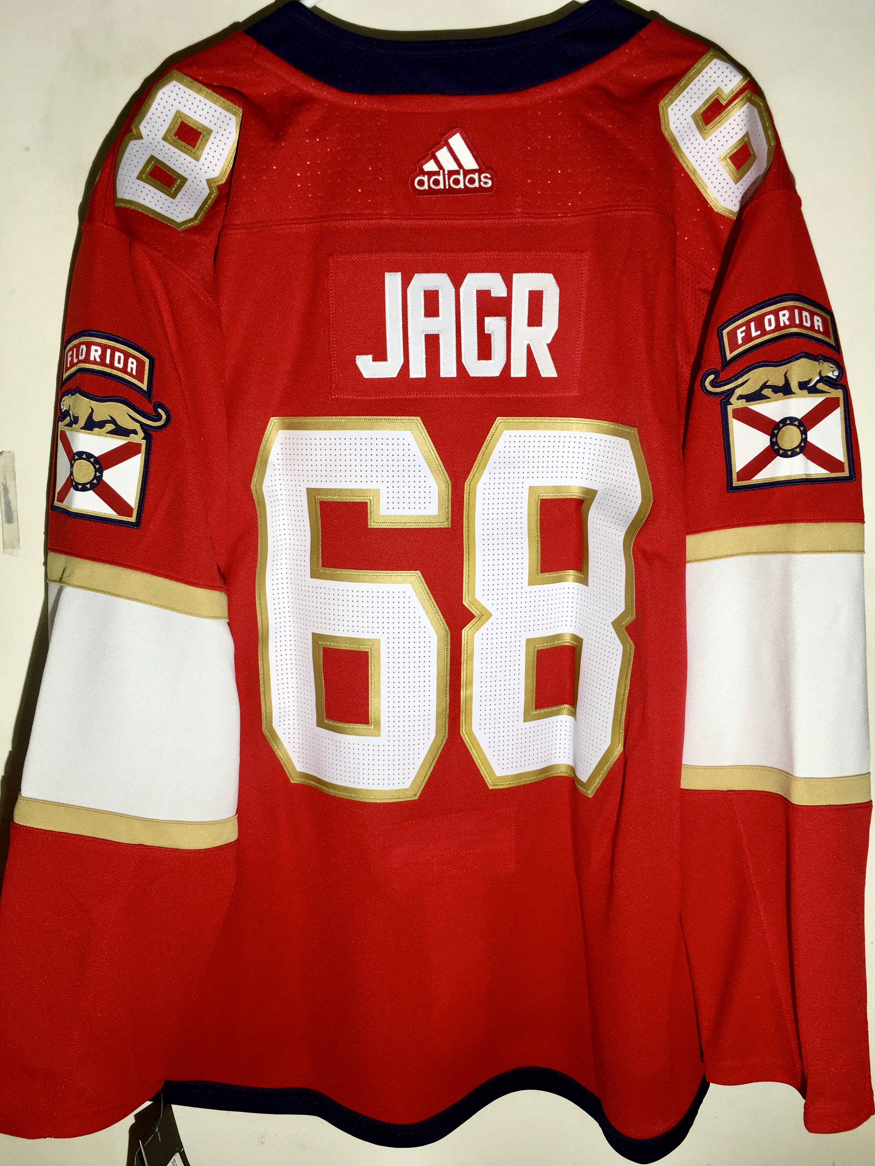 6e0c825f74f adidas Authentic NHL Jersey Florida Panthers Jaromir Jagr Red sz 42 ...