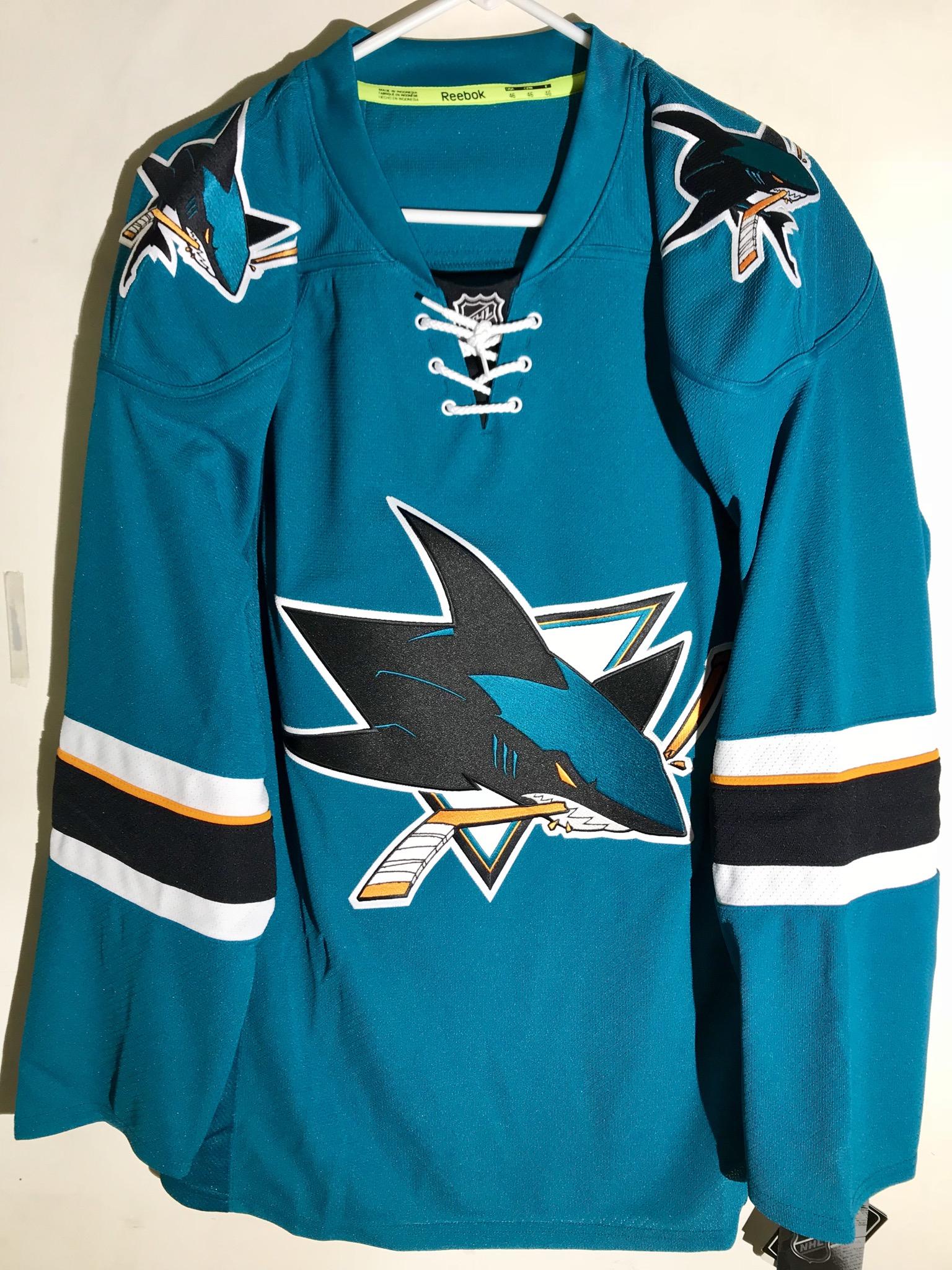 05904cadc Reebok Authentic NHL Jersey San Jose Sharks Team Teal sz 50