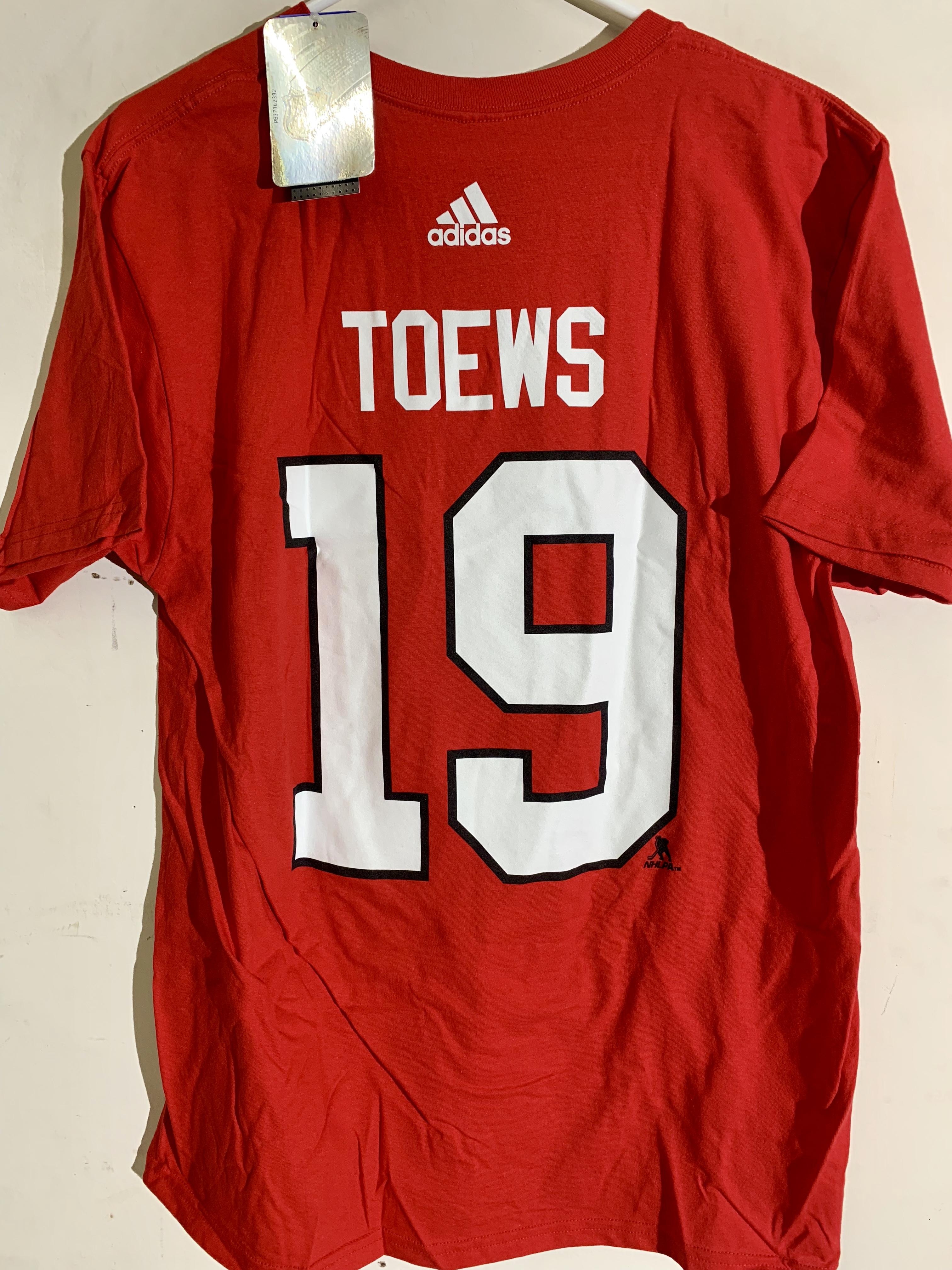Details about adidas NHL T-Shirt Chicago Blackhawks Jonathan Toews Red sz L 8afafac2ec50f