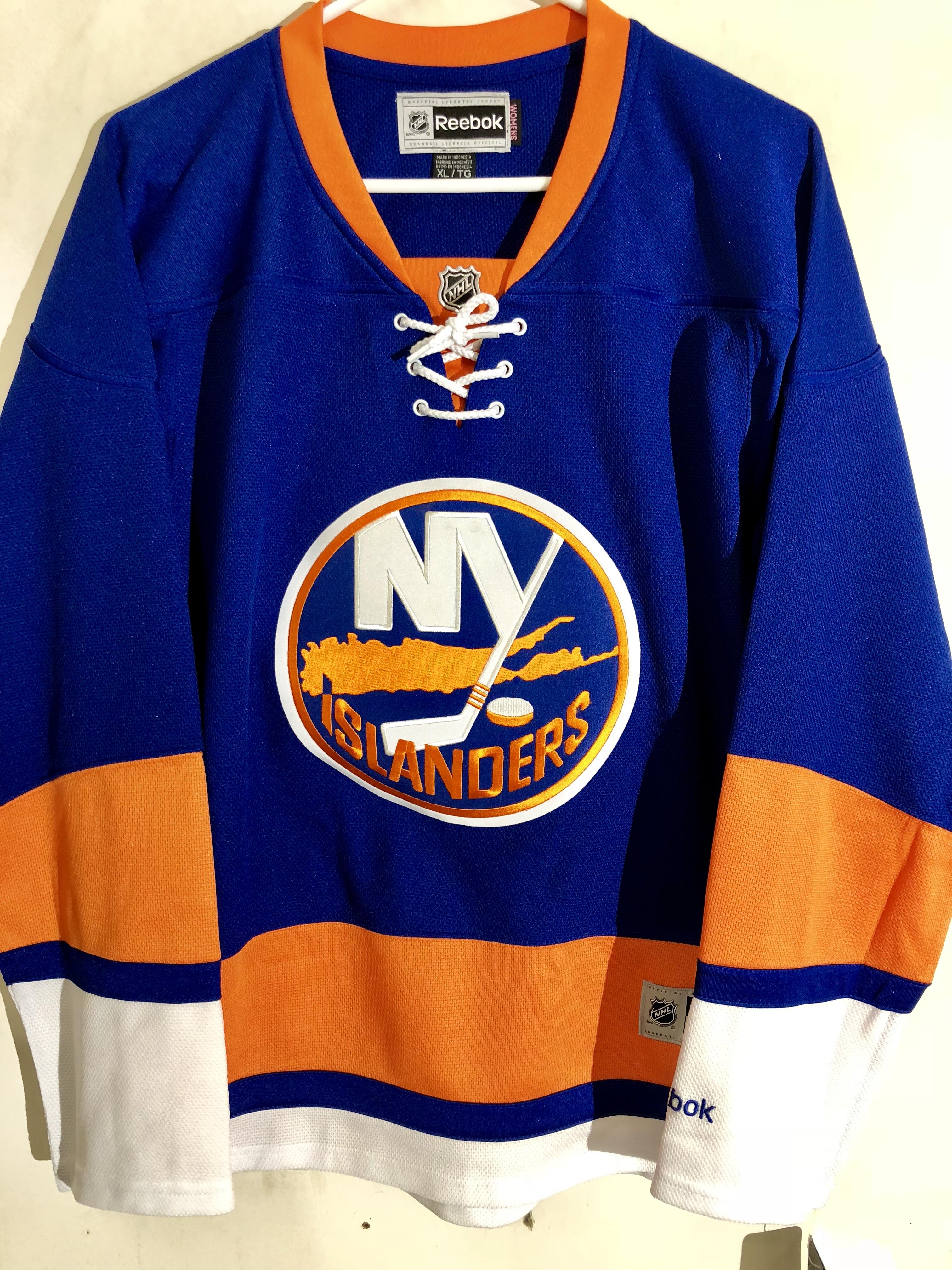 best service 8267e 80416 Details about Reebok Women's Premier NHL Jersey New York Islanders Team  Blue sz 2X