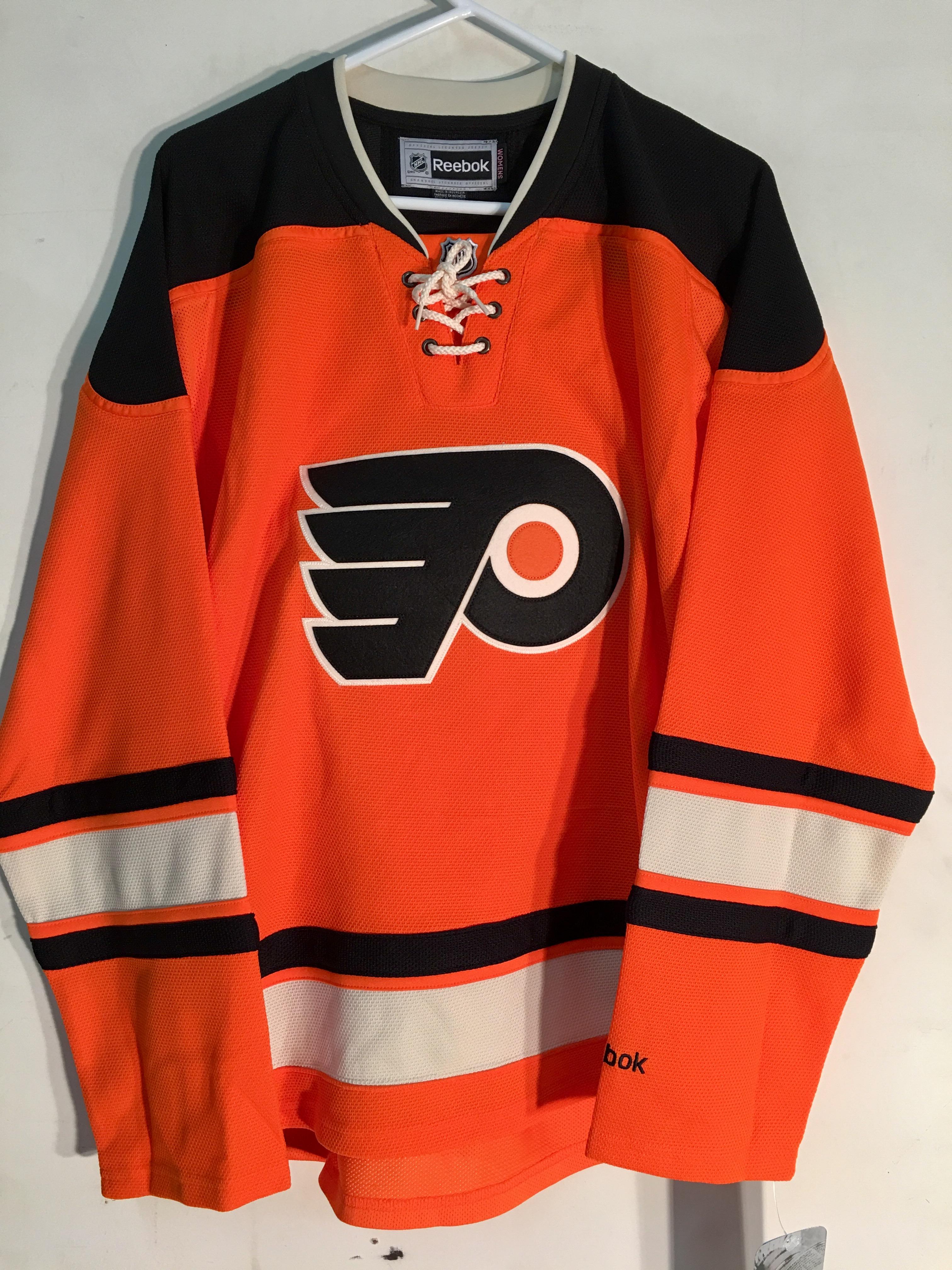 Reebok Women s Premier NHL Jersey Philadelphia Flyers Team Orange ... 459b48652