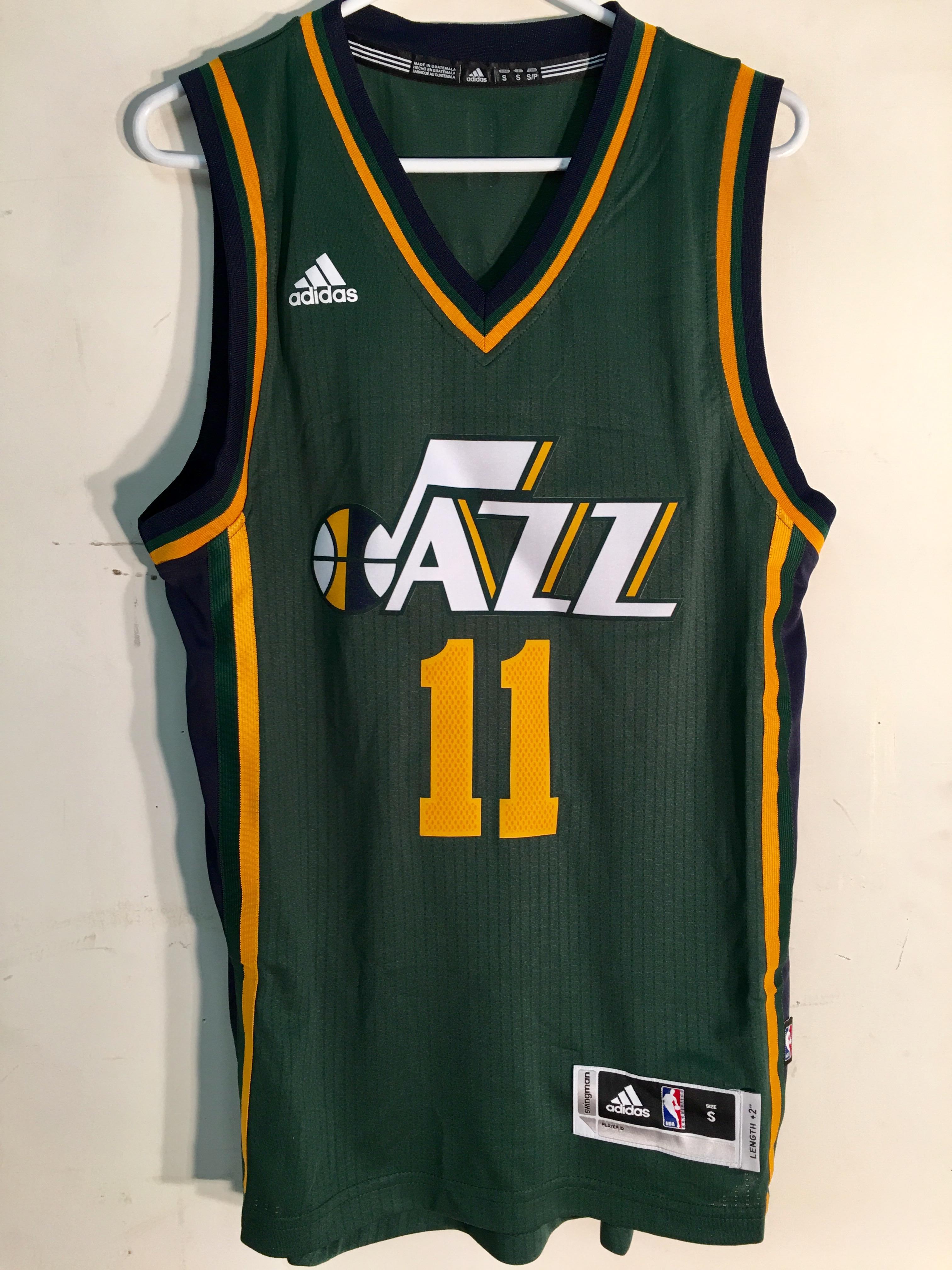 7e8574878 Adidas Swingman 2015-16 NBA Jersey Utah Jazz Dante Exum Green sz L ...