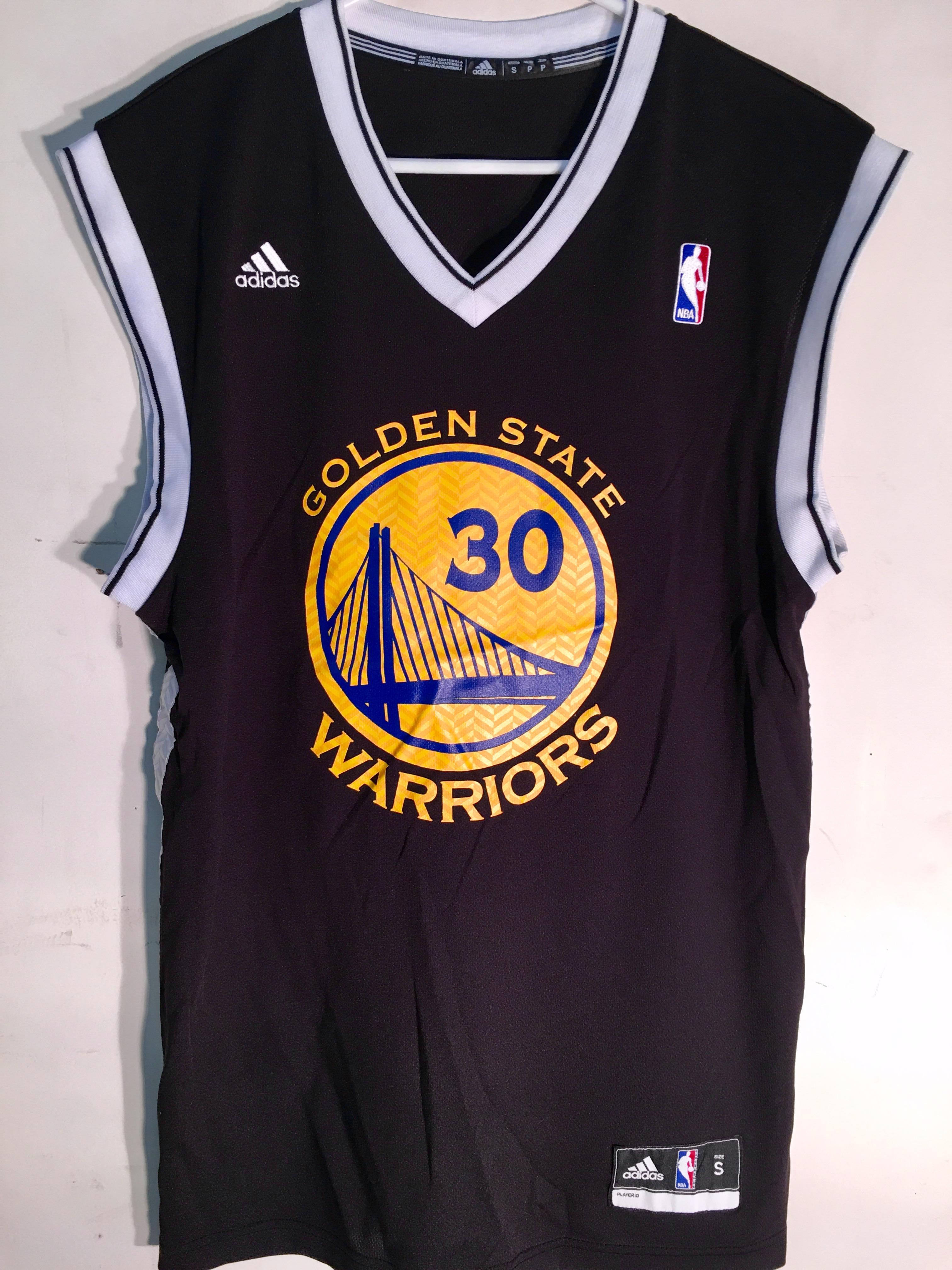 Adidas NBA Jersey Golden State Warriors Stephen Curry Black Alt sz S ... 9cee6e36ee9