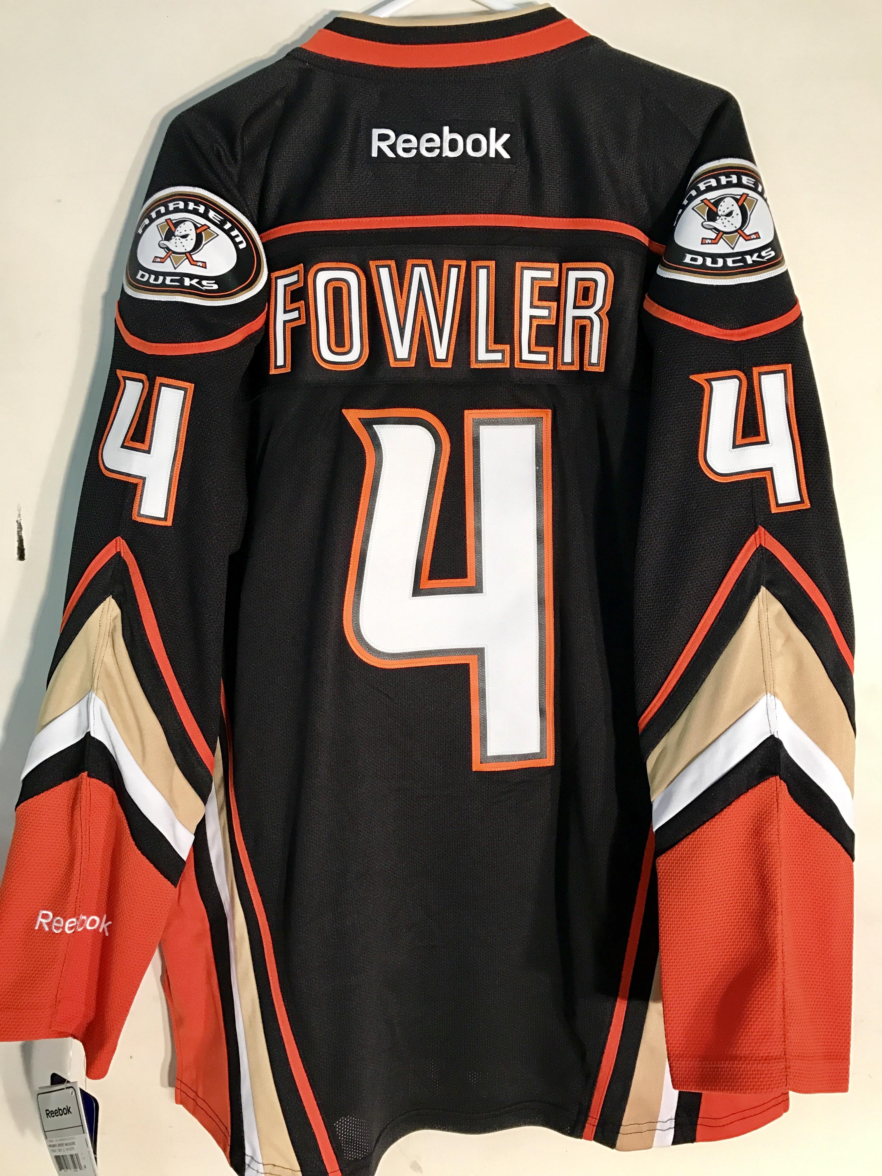 big sale 6710f 03423 Reebok Premier NHL Jersey  Ducks Cam Fowler Black sz M