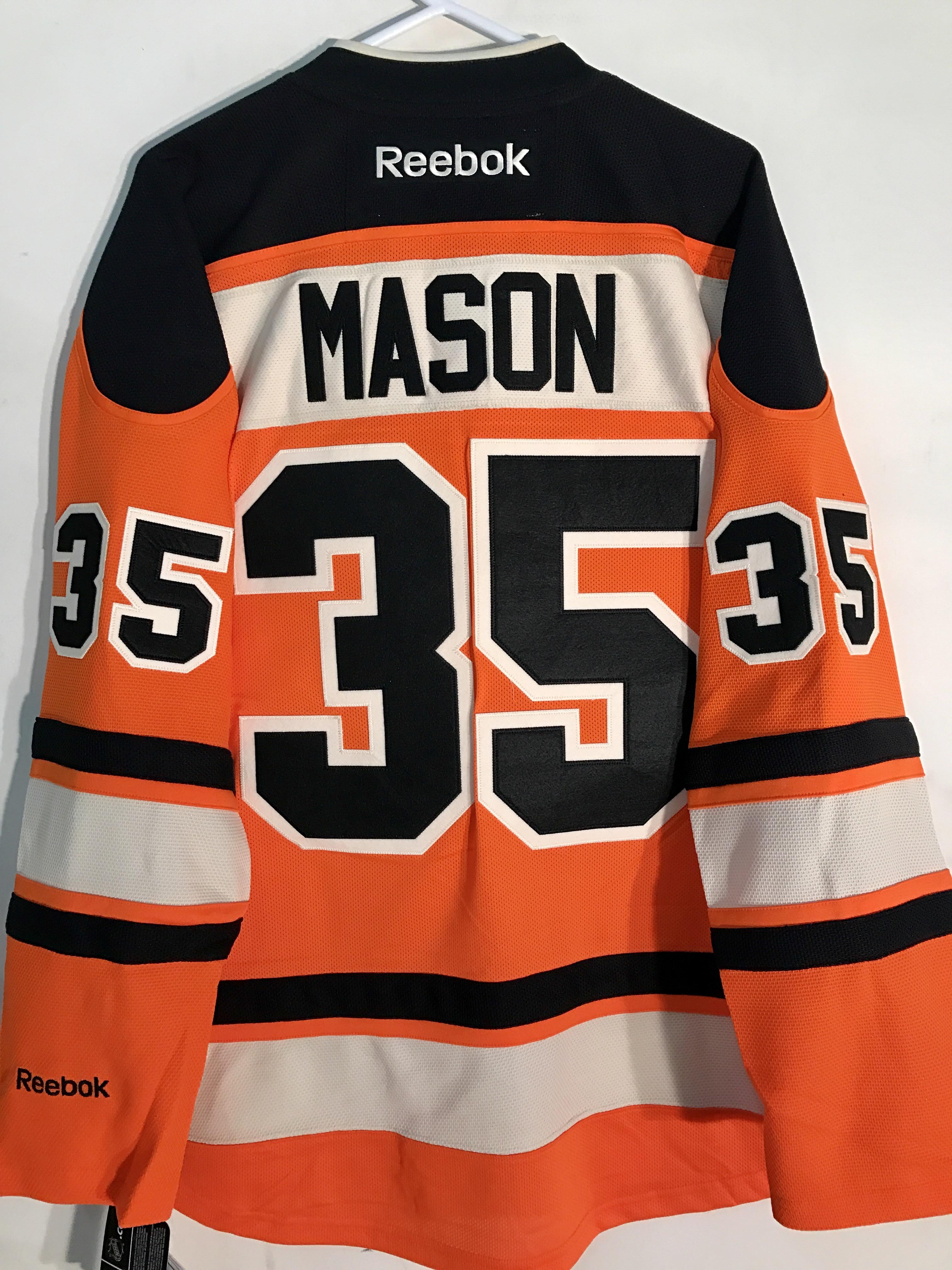844ebb7d0 Details about Reebok Premier NHL Jersey Philadelphia Flyers Steve Mason  Orange Alt sz M