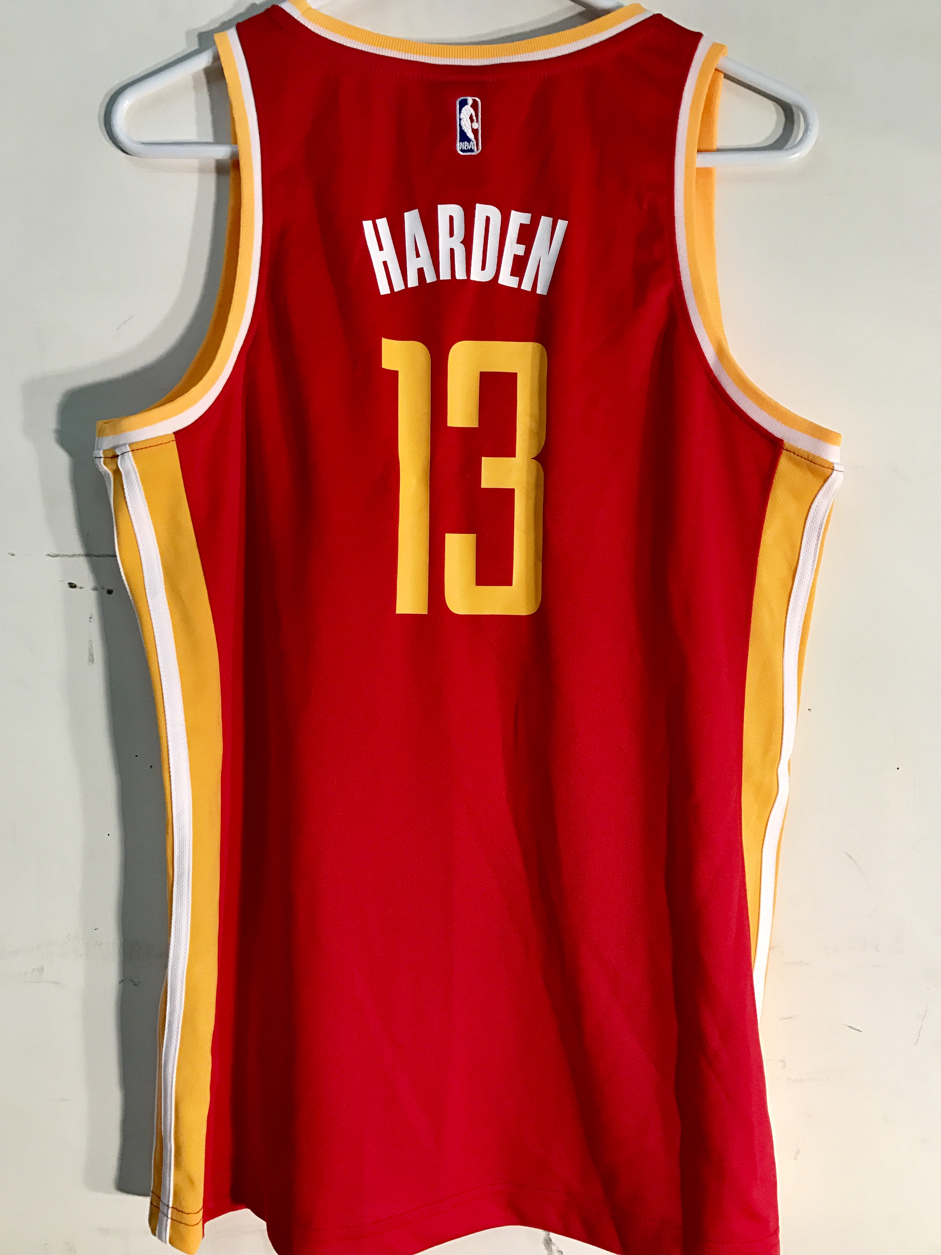 more photos bd3fe 31f96 Details about Adidas Women's NBA Jersey Houston Rockets James Harden Red  Alt sz M