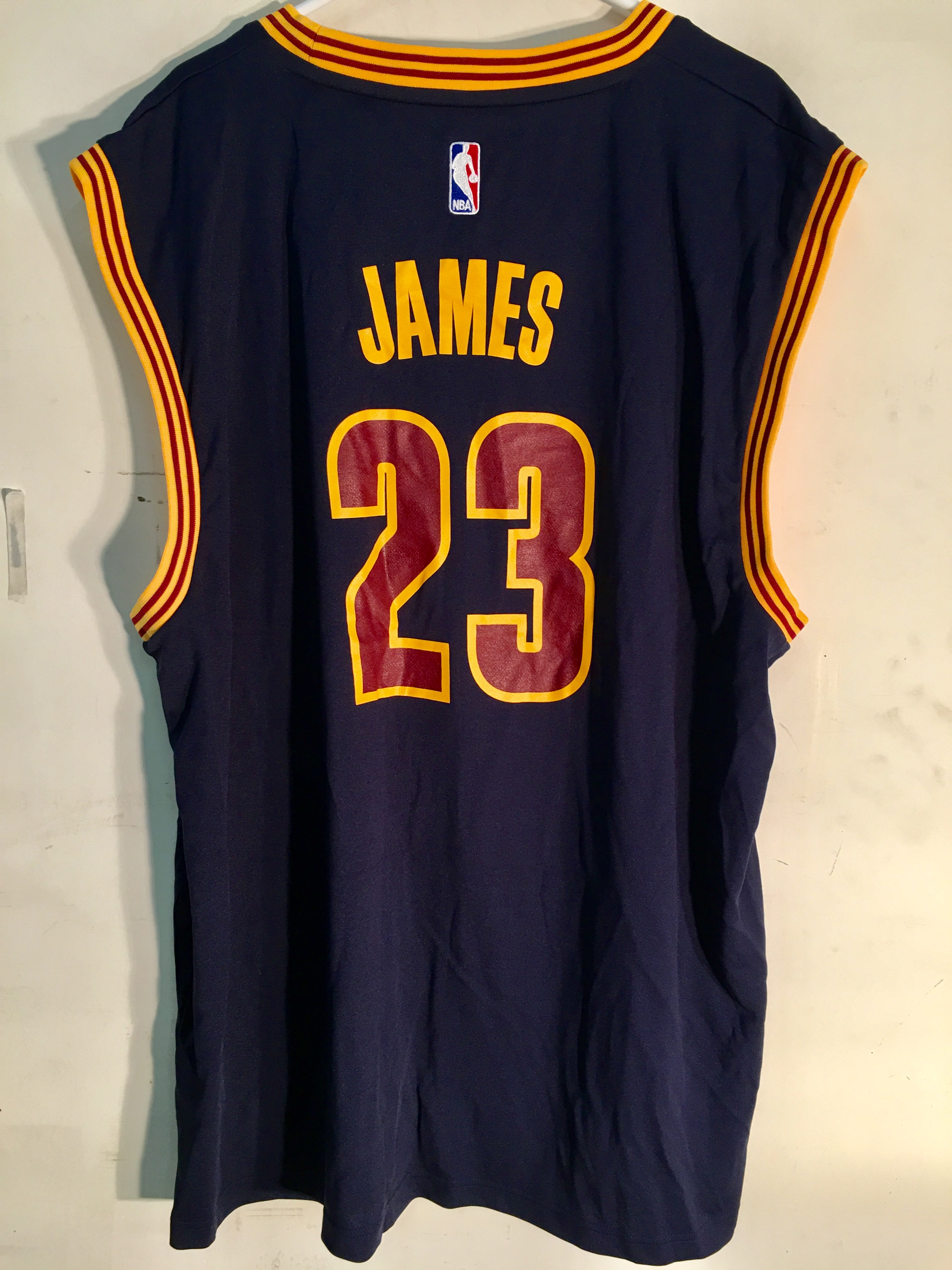 buy online dee5e 3bc7b Details about Adidas NBA Jersey Cleveland Cavaliers LeBron James Navy sz 3X