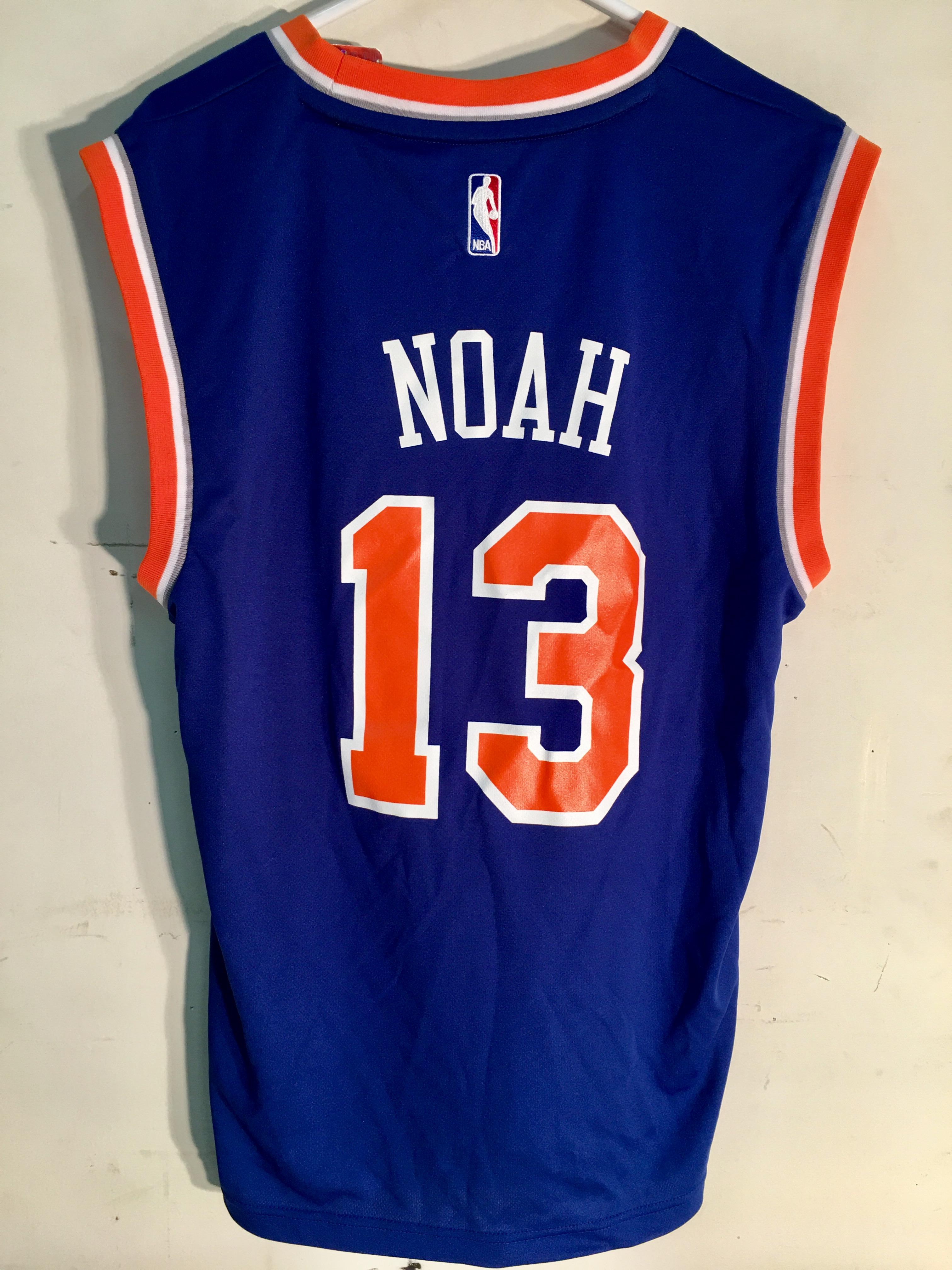 bde06fbd4570 Details about Adidas NBA Jersey New York Knicks Joakim Noah Blue sz XL