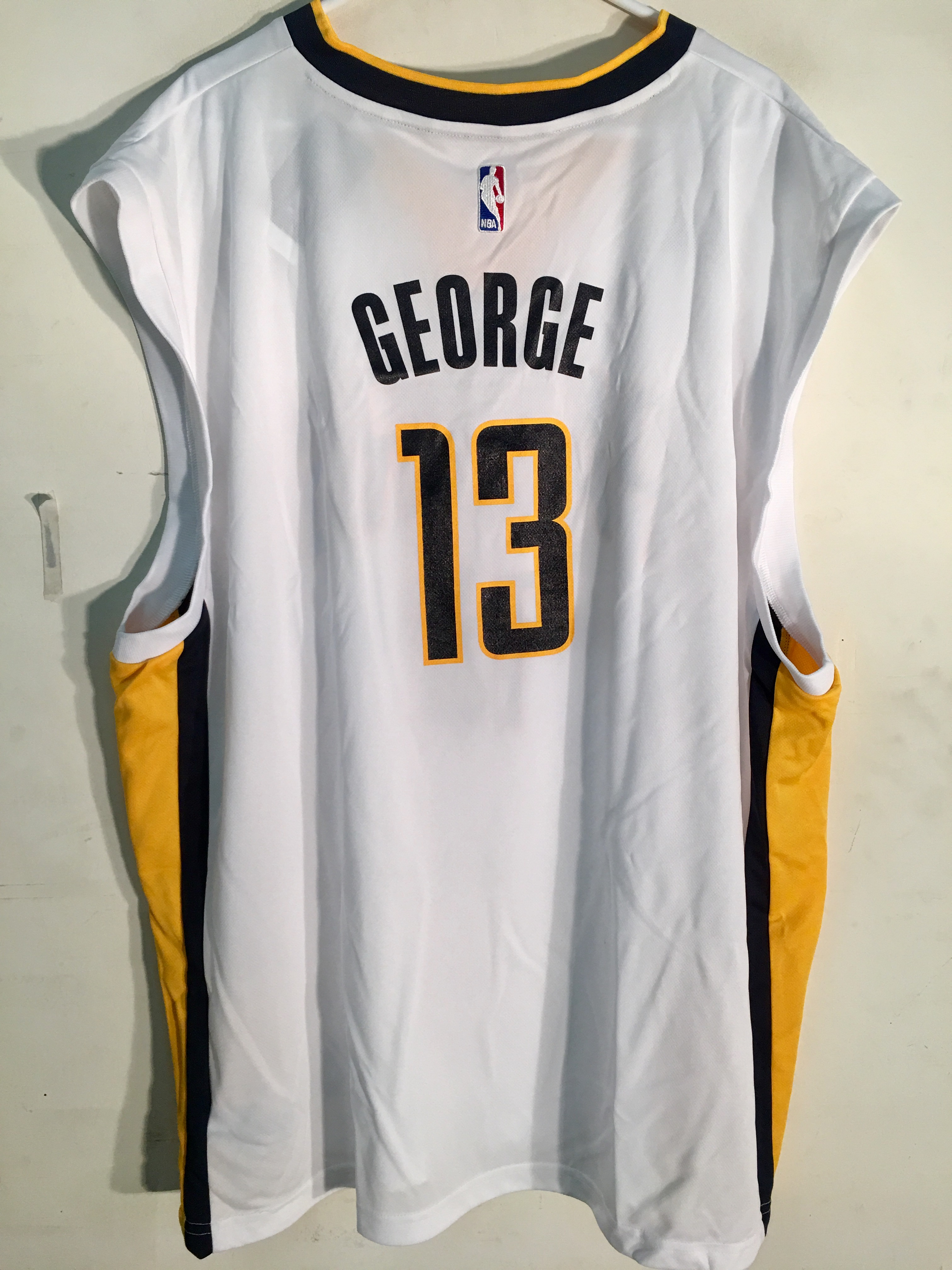 0e7abaaf Adidas NBA Jersey Indiana Pacers Paul George White sz 3X | eBay