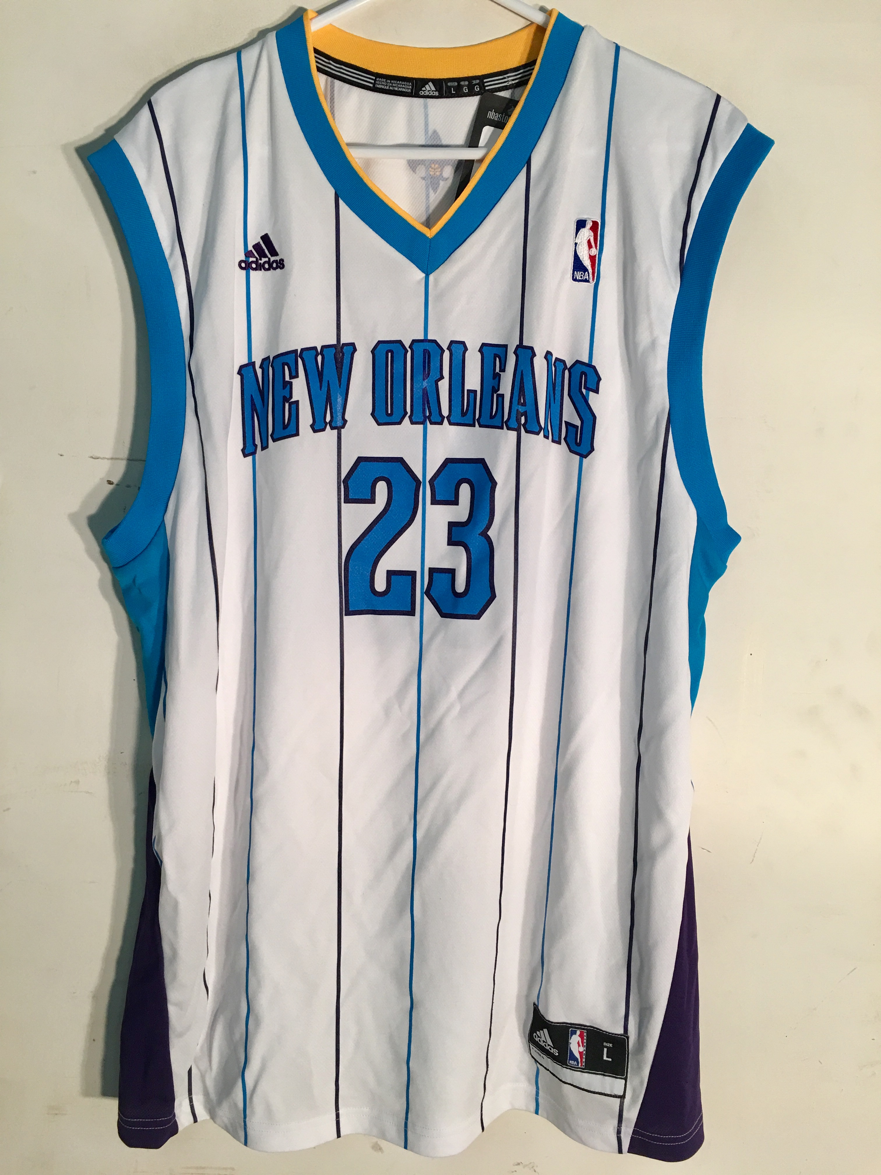 869b0e952 Adidas NBA Jersey New Orleans Hornets Anthony Davis White sz 2X