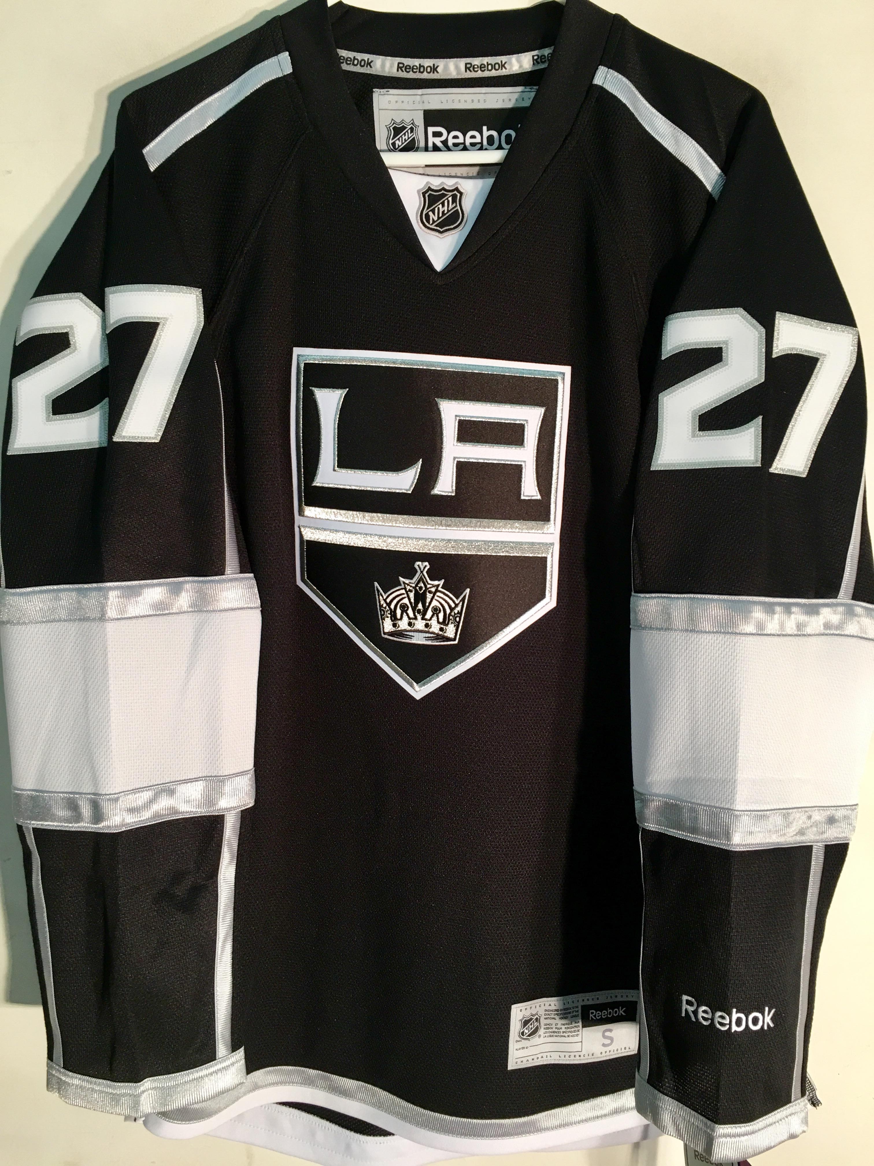 dd8a5bbeed5 Reebok Premier NHL Jersey Los Angeles Kings Alec Martinez Black sz S ...