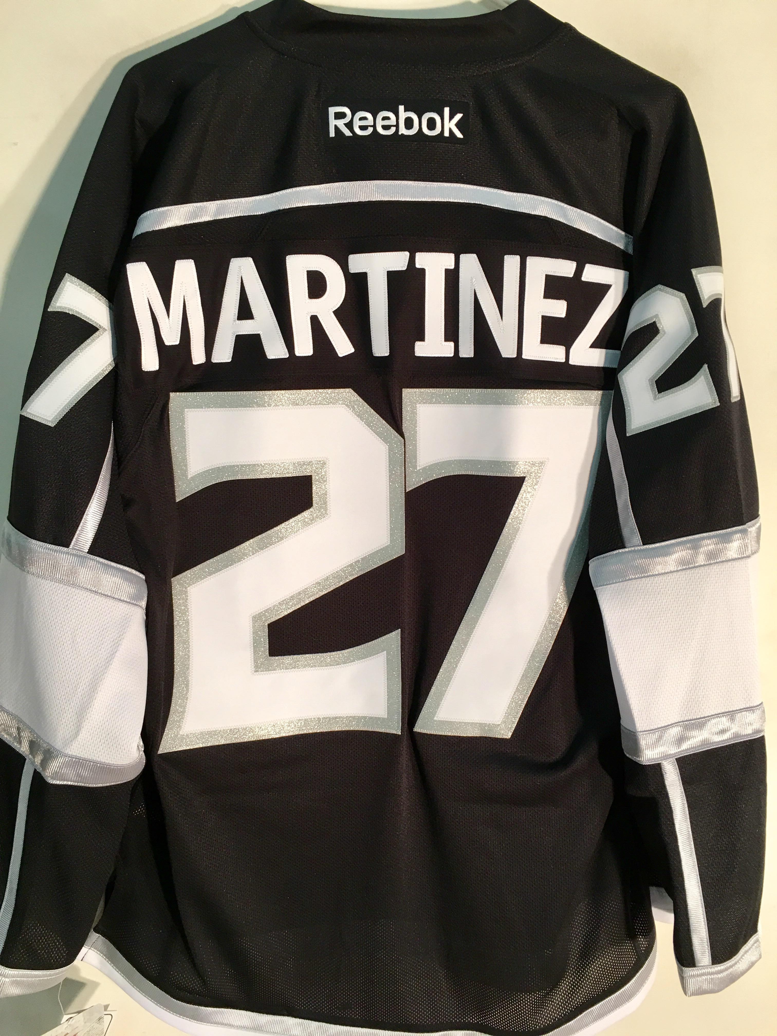 e2bdb35ddc7 Reebok Premier NHL Jersey Los Angeles Kings Alec Martinez Black sz L ...