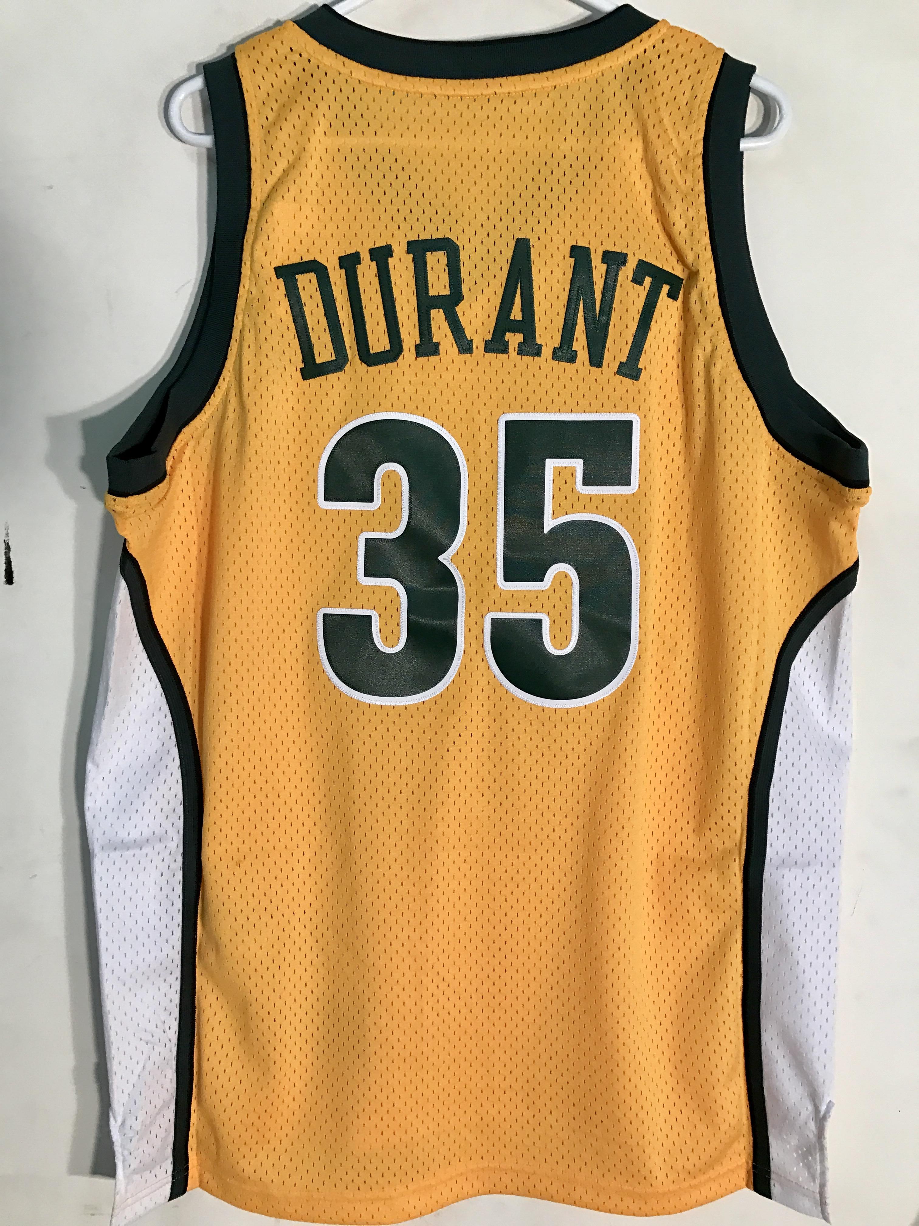 0adbc5cbb83 Adidas Swingman NBA Jersey Seattle Supersonics Kevin Durant Gold HWC ...