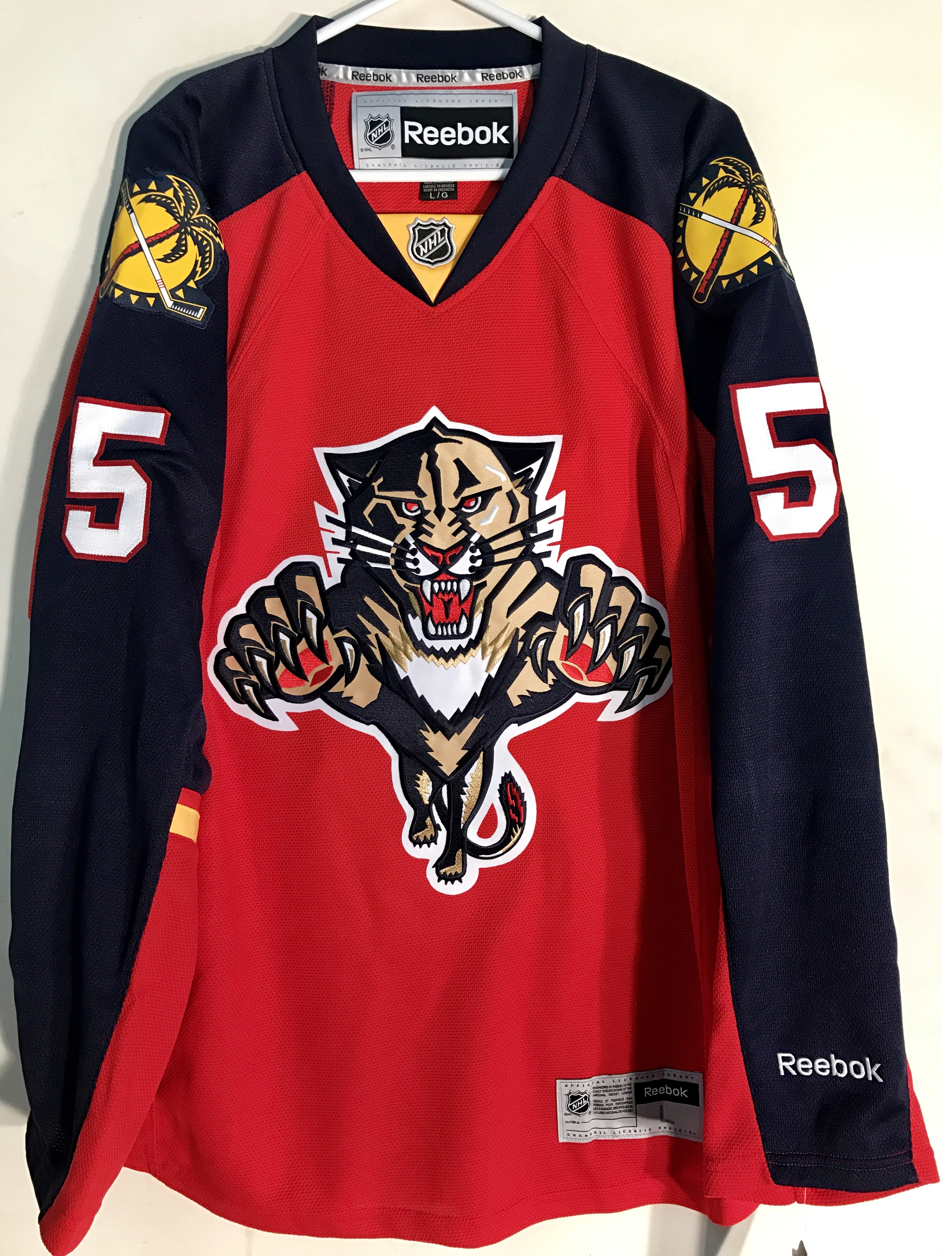 bd280b7d Details about Reebok Premier NHL Jersey Florida Panthers Aaron Ekblad Red  sz S