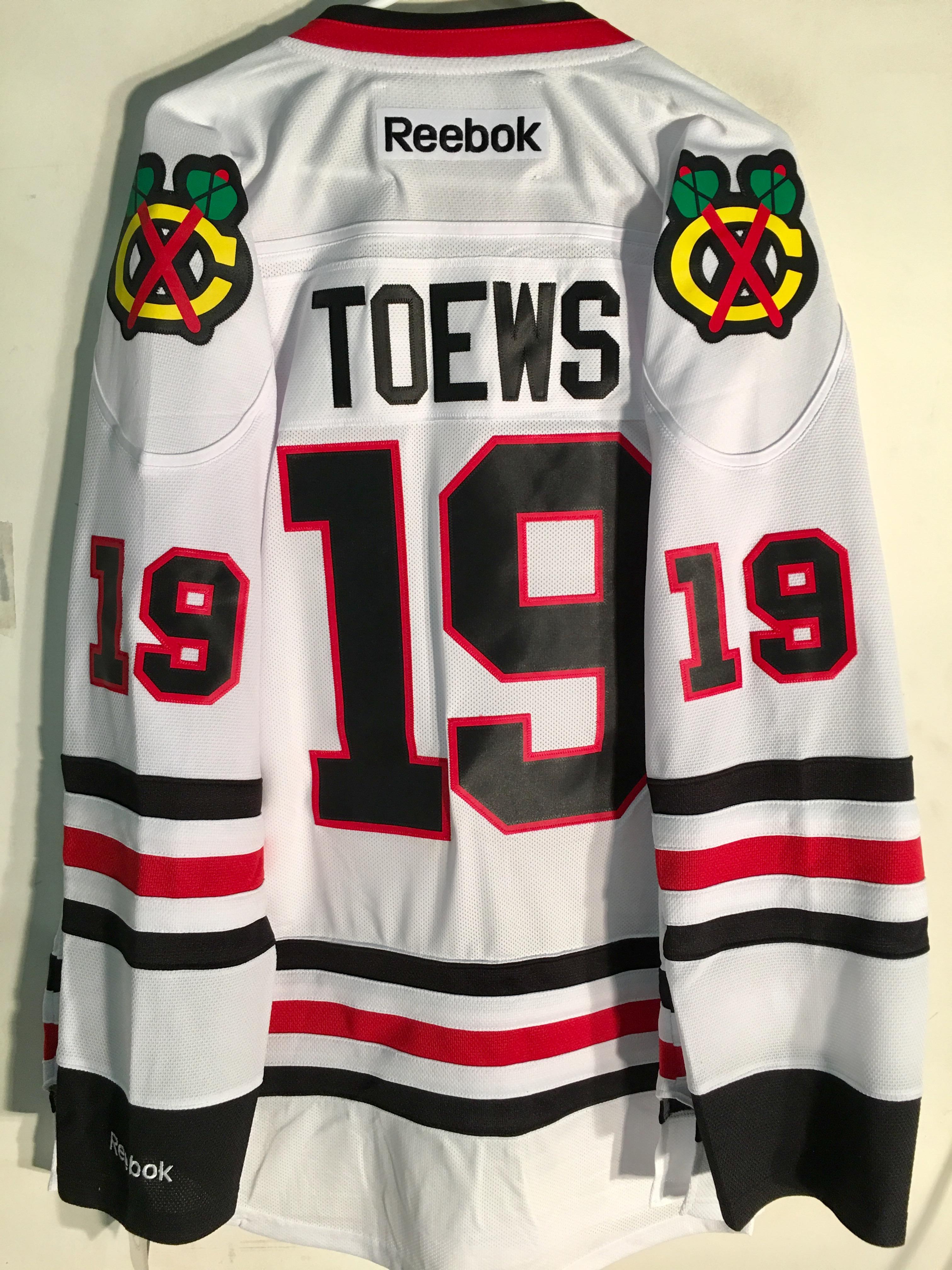 san francisco 5e25a ed8b2 Details about Reebok Premier NHL Jersey Chicago Blackhawks Jonathan Toews  White sz M