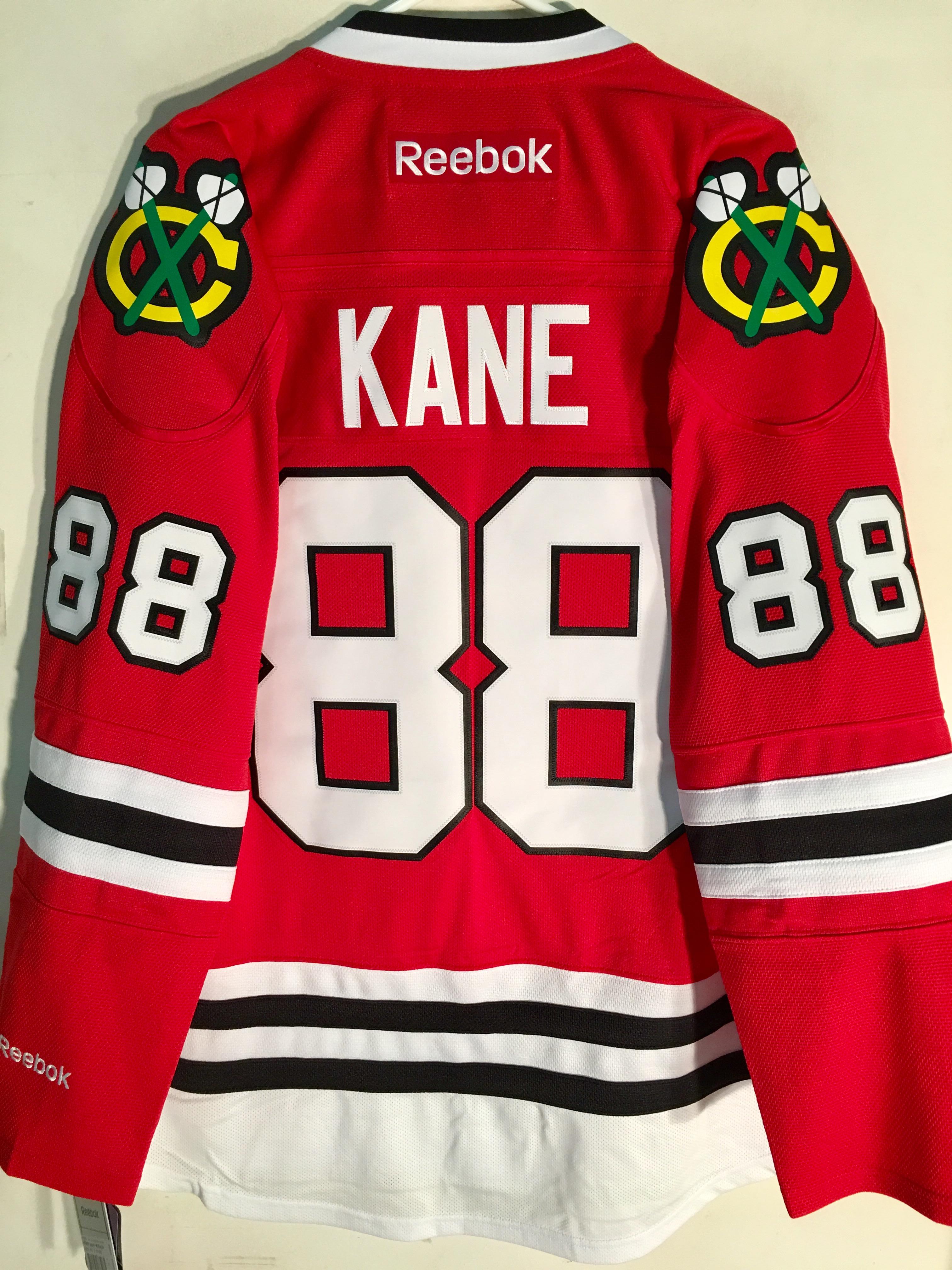 48a4783b4 Reebok Premier NHL Jersey Chicago Blackhawks Patrick Kane Red sz S ...