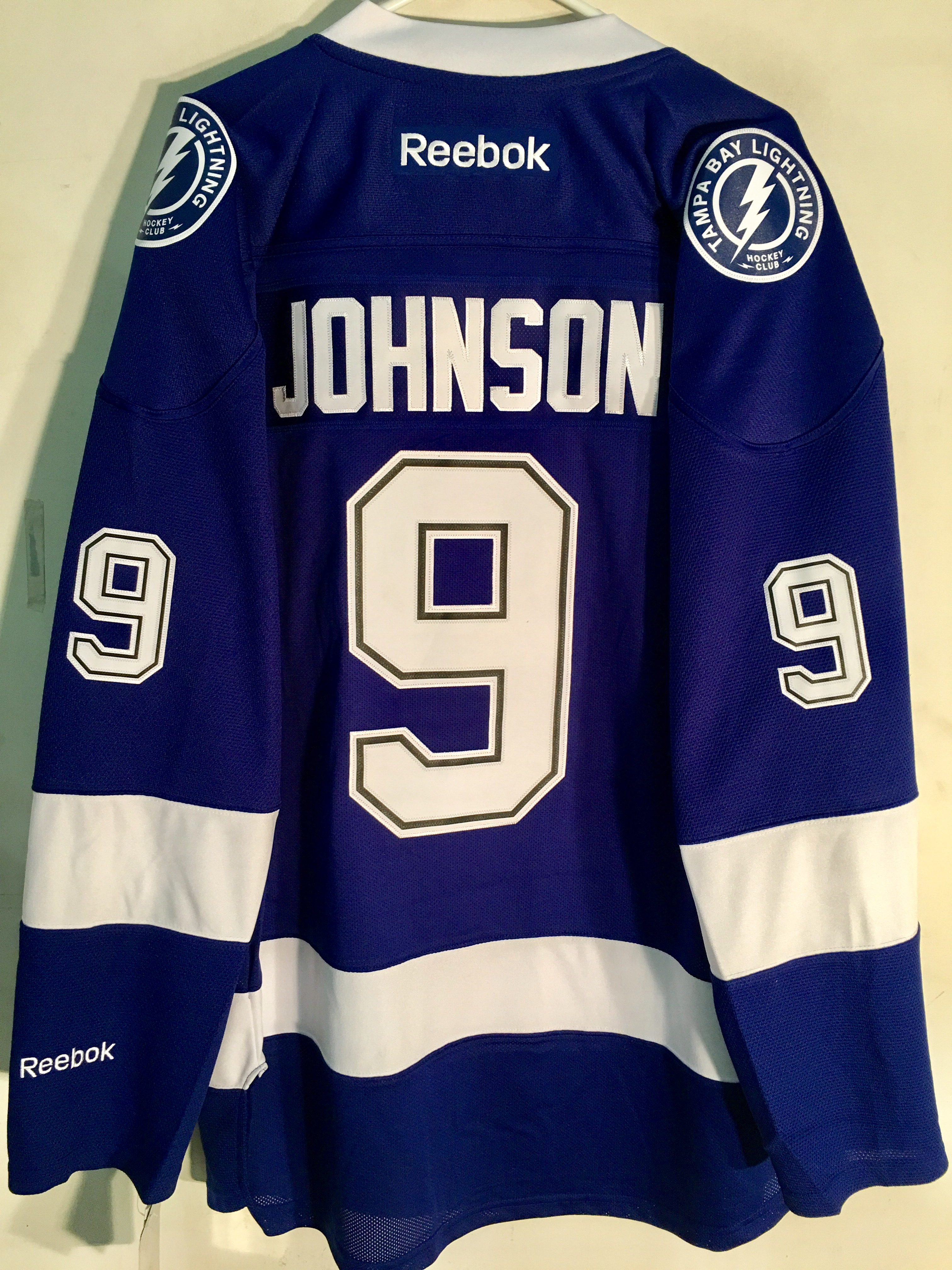 119185527c2 Reebok Premier NHL Jersey Tampa Bay Lightning Tyler Johnson Blue sz ...