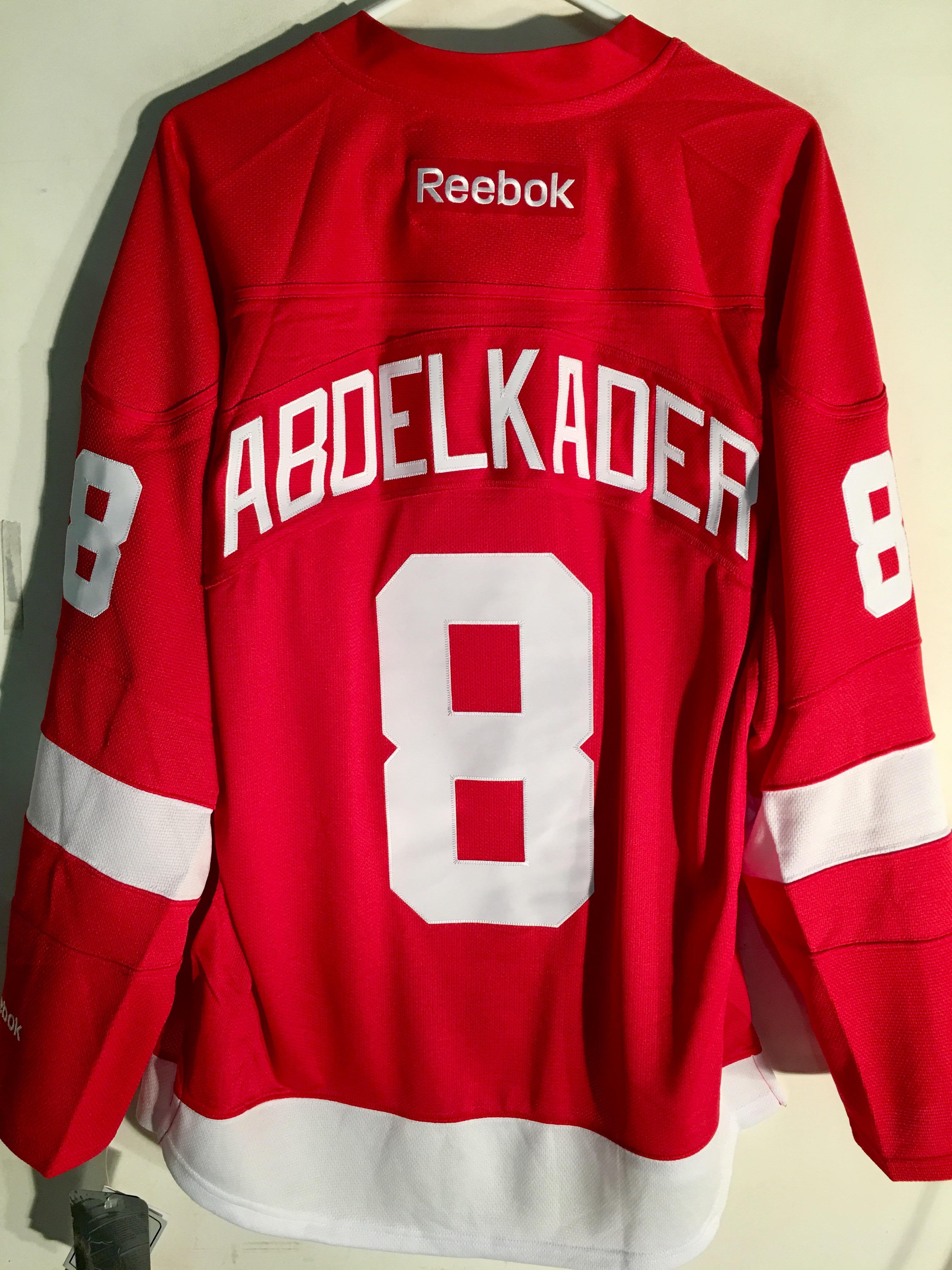 Reebok Premier NHL Jersey Detroit Redwings Justin Abdelkader Red sz ... d4c91a7ff