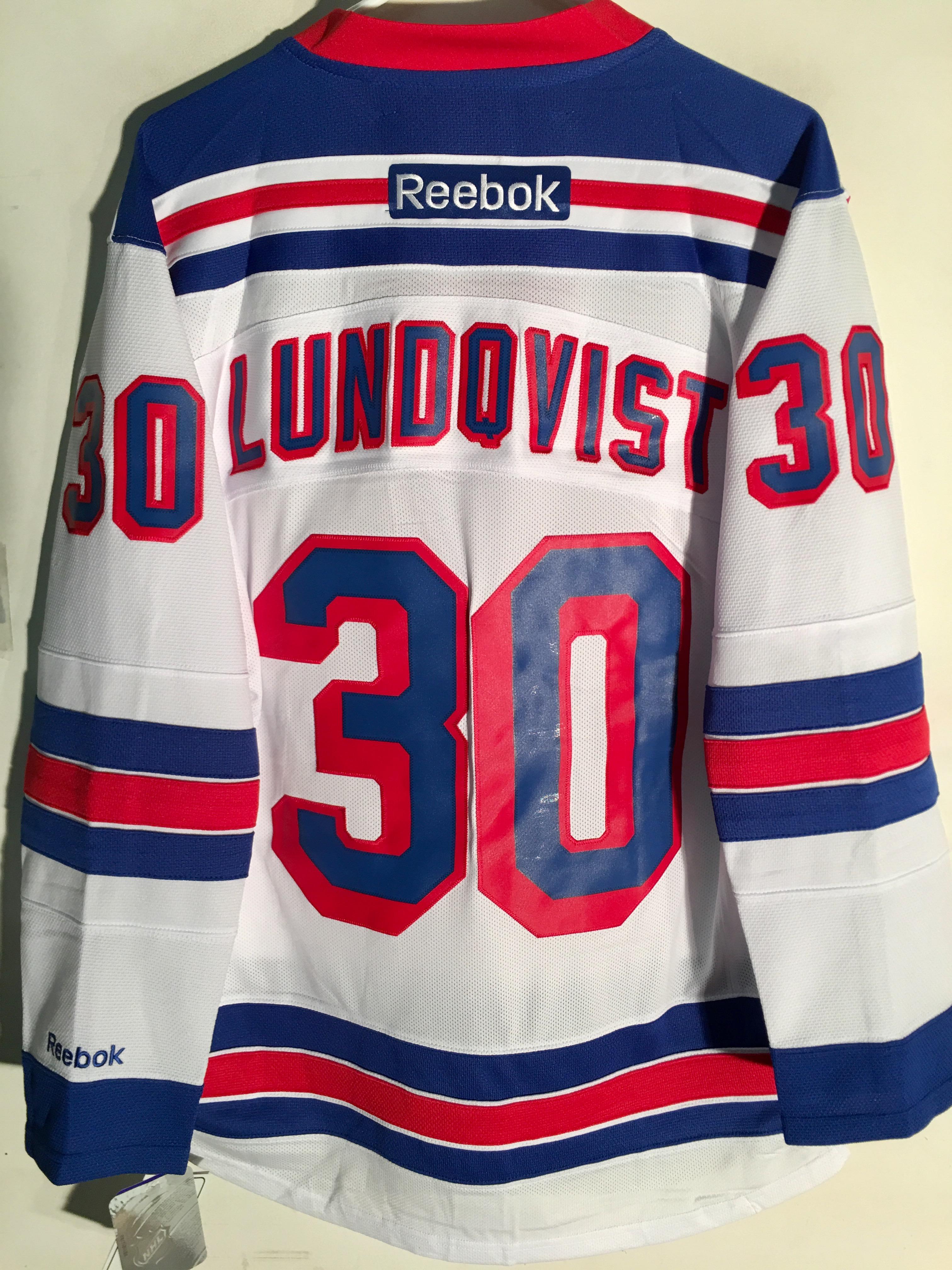 Reebok Premier NHL Jersey New York Rangers Henrik Lundqvist White sz ... c060e67a8