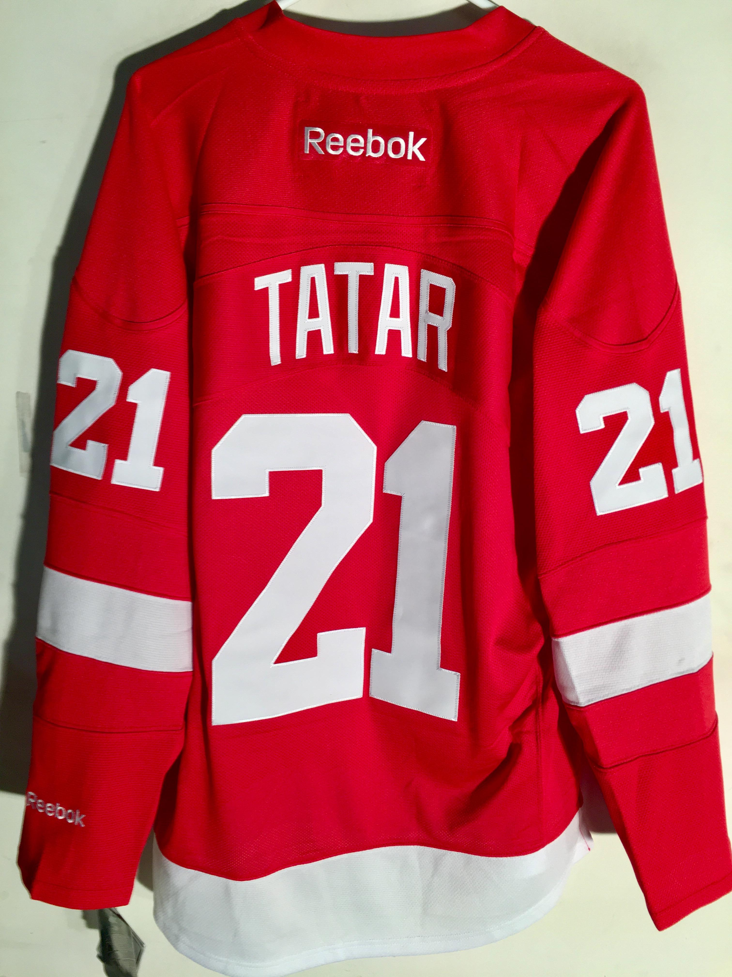 edc0d43bc7a Reebok Premier NHL Jersey Detroit Redwings Tomas Tatar Red sz L   eBay