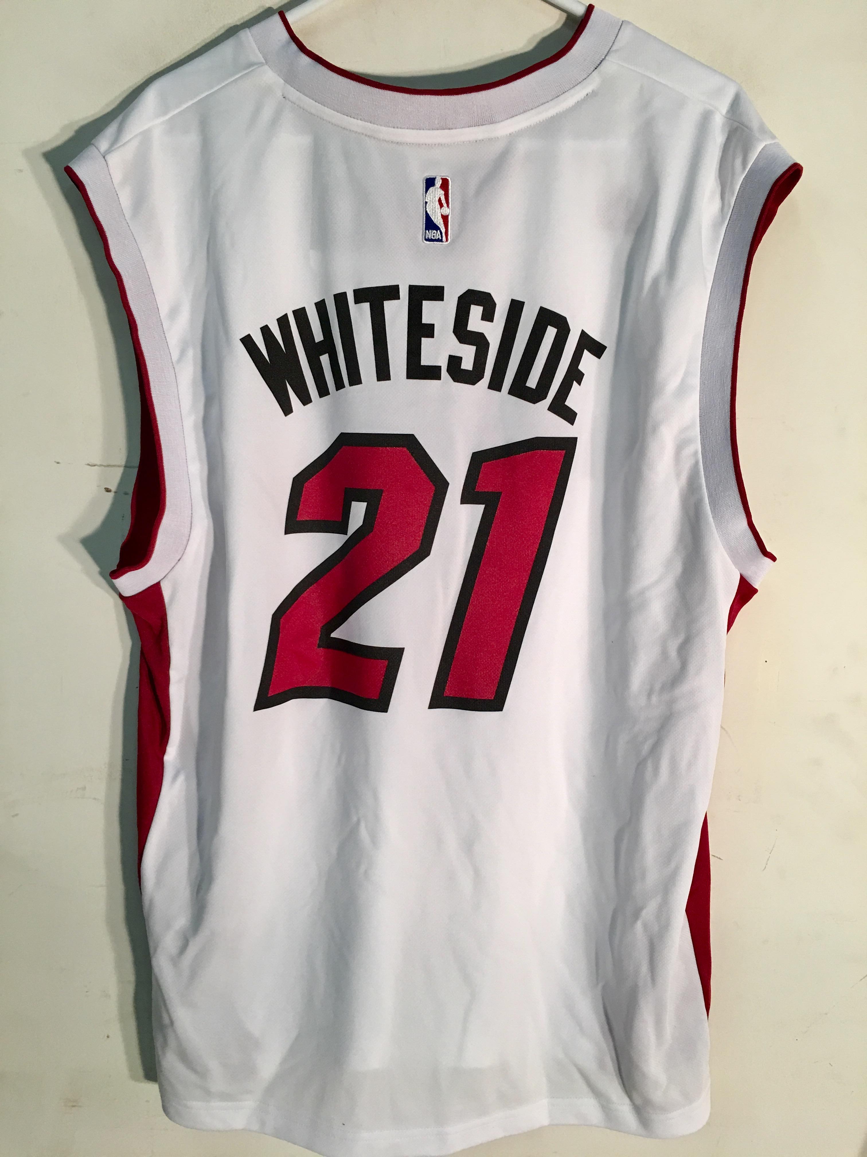 Adidas NBA Jersey Miami Heat Hassan Whiteside White sz 2X  56c2903ad