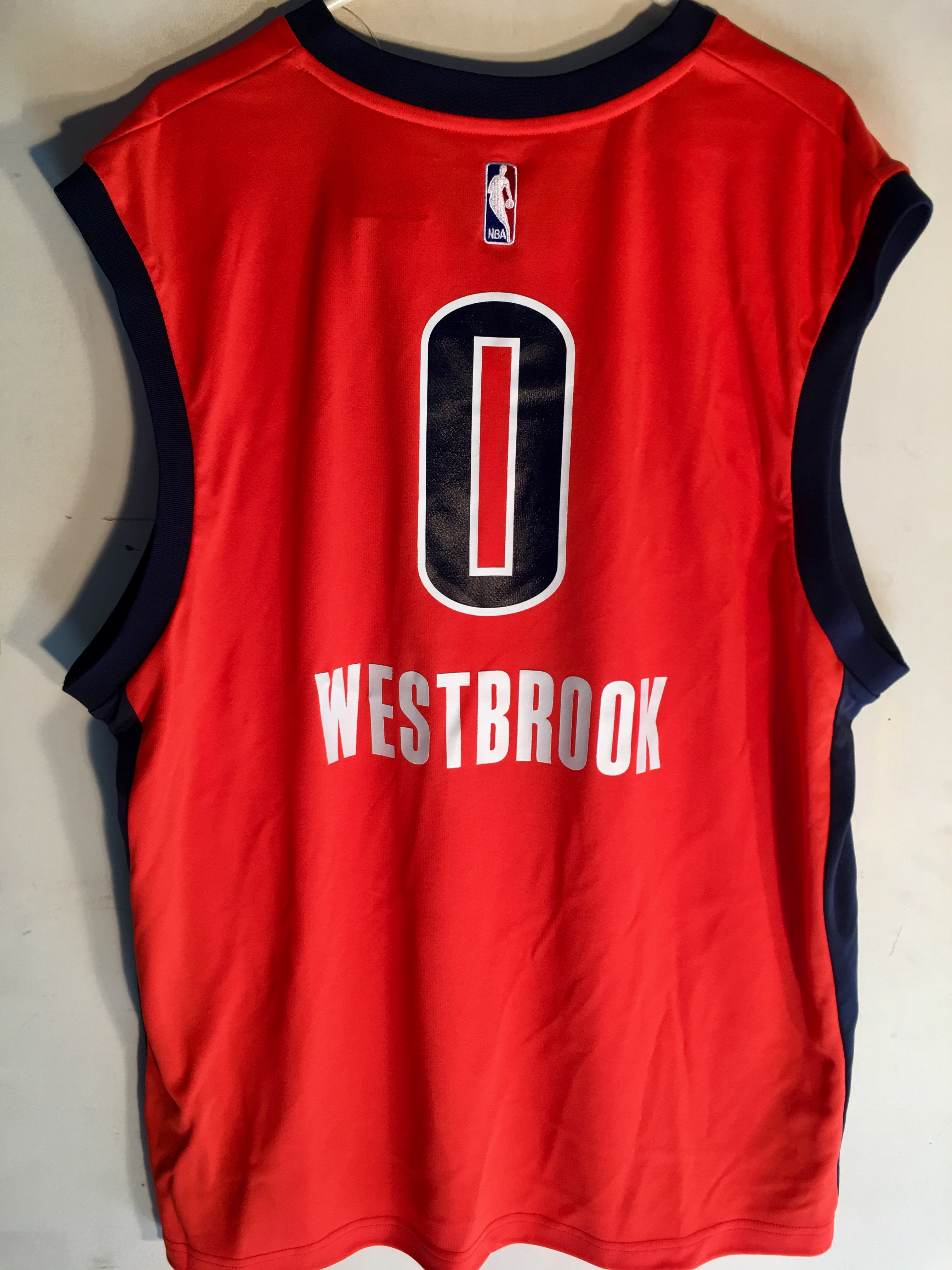release date 7454f ae4e2 Details about Adidas NBA Jersey Oklahoma City Thunder Russell Westbrook  Orange sz 2X