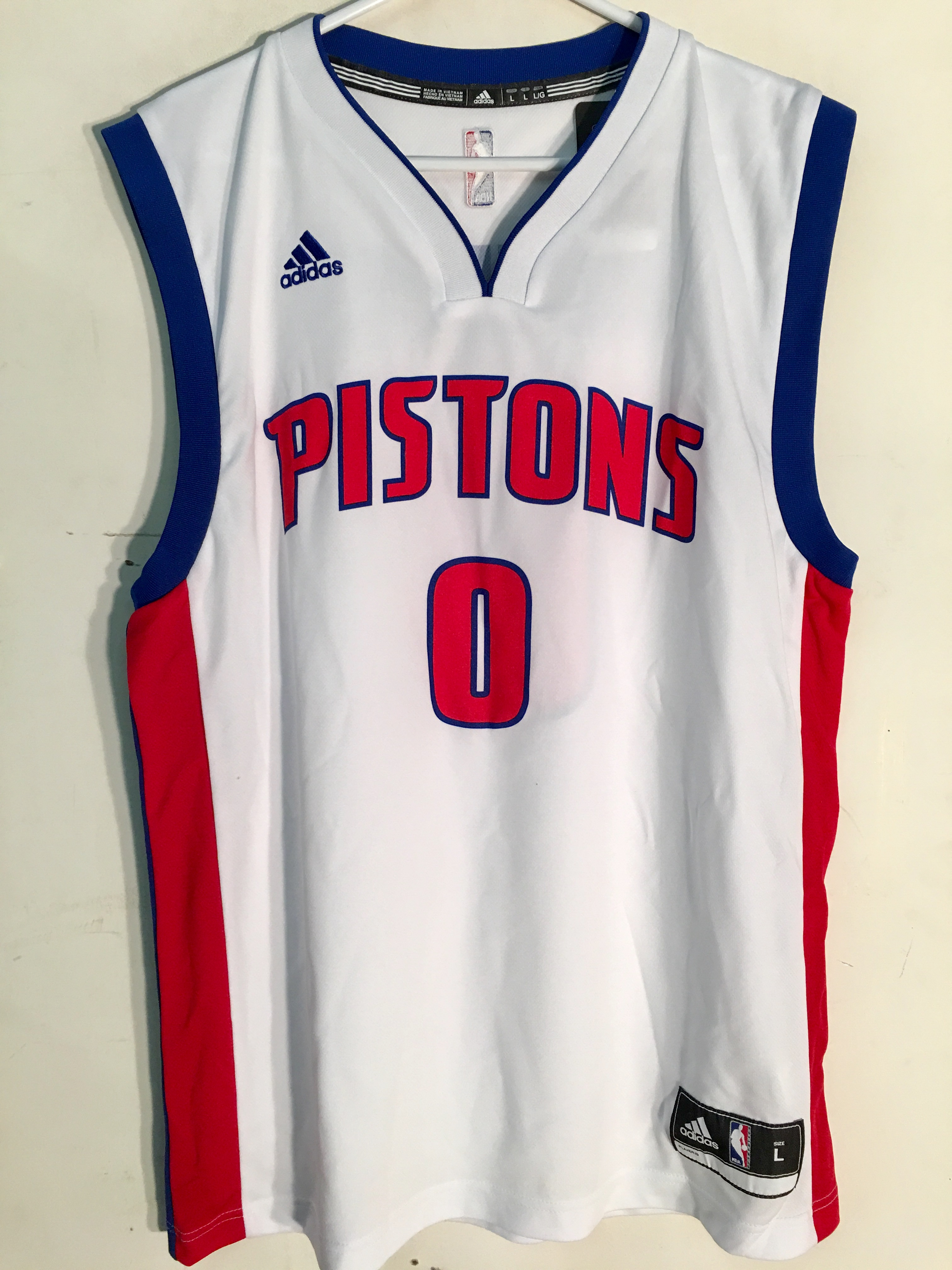 Details about Adidas NBA Jersey Detroit Pistons Andre Drummond White sz XL 966daaba3
