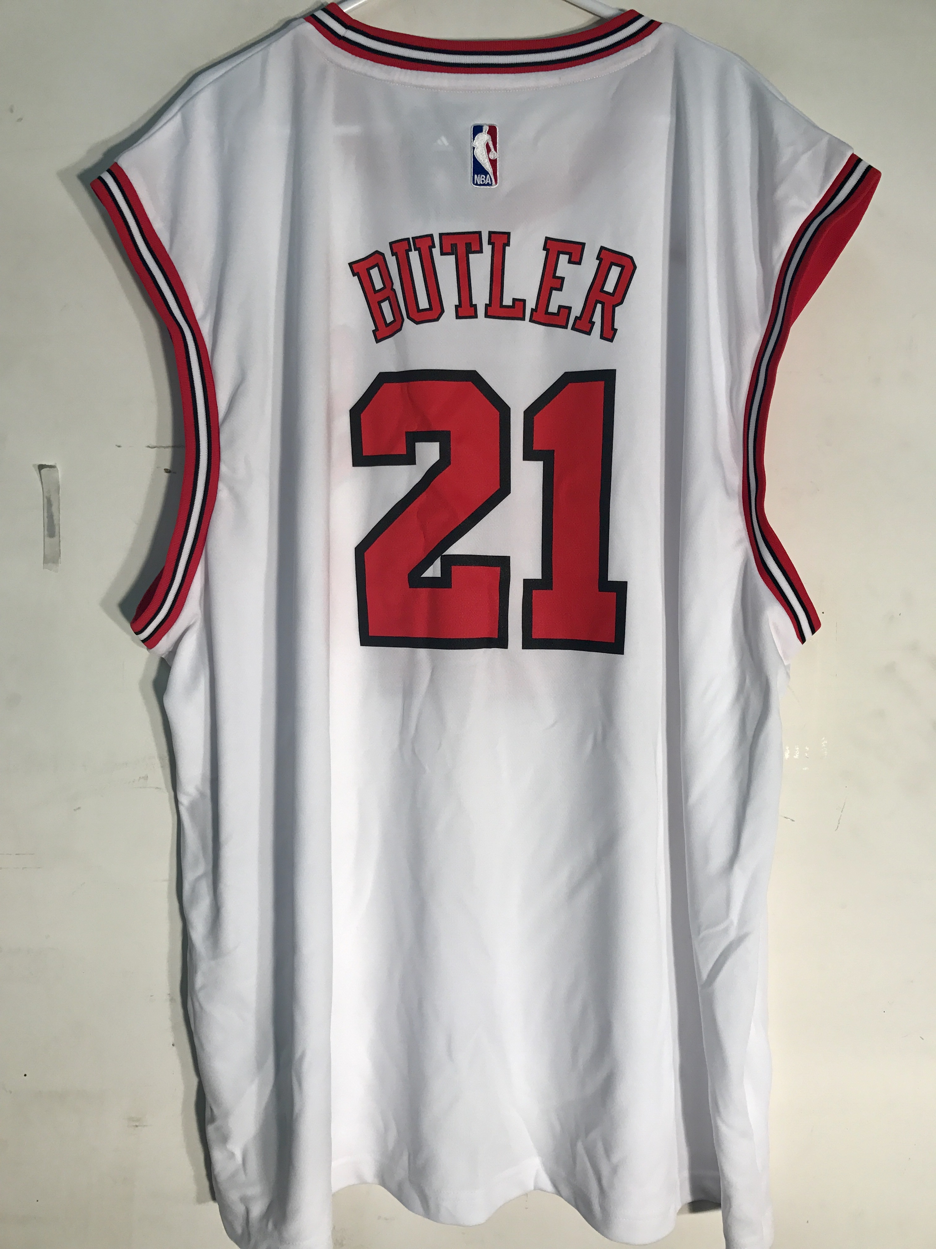 best website 3e145 ec8d8 Details about Adidas NBA Jersey Chicago Bulls Jimmy Butler White sz 4X