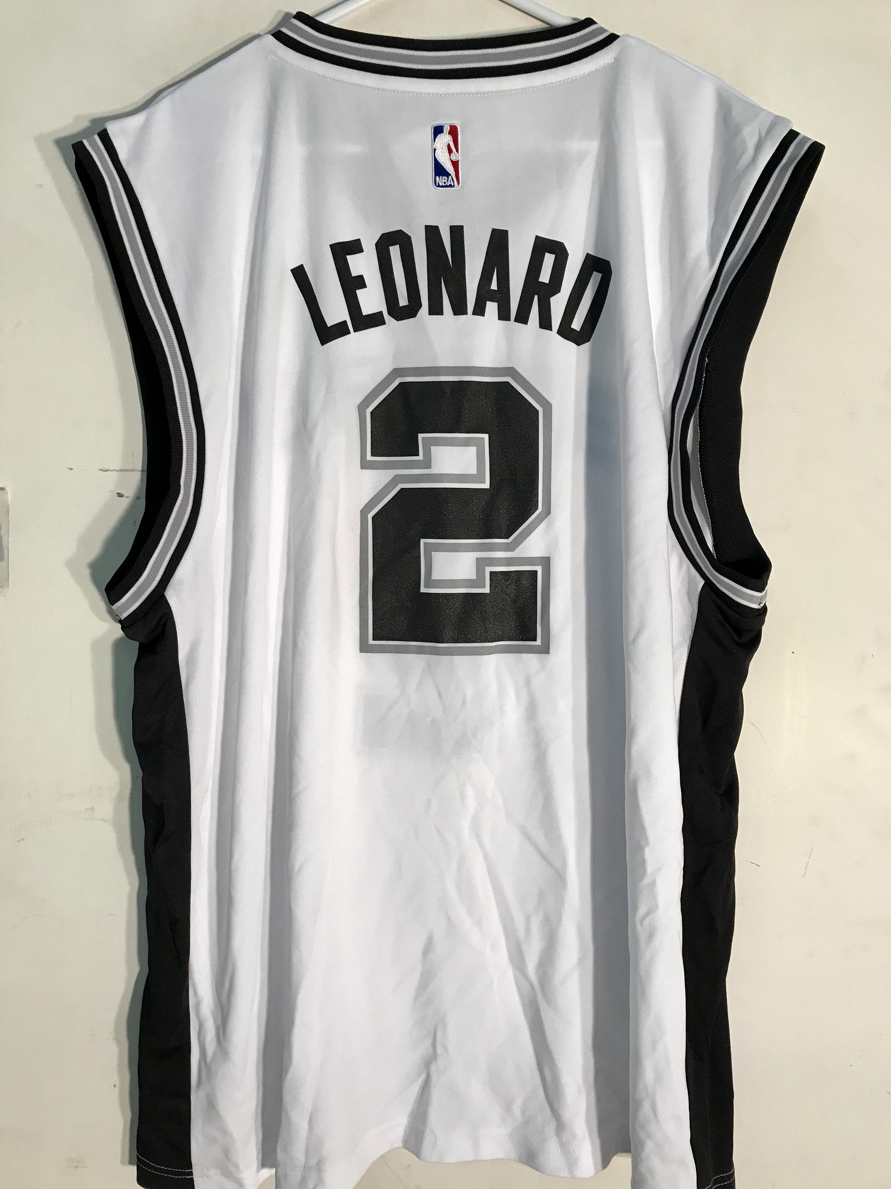 Details about Adidas NBA Jersey San Antonio Spurs Kawhi Leonard White sz 2X 3860b0976