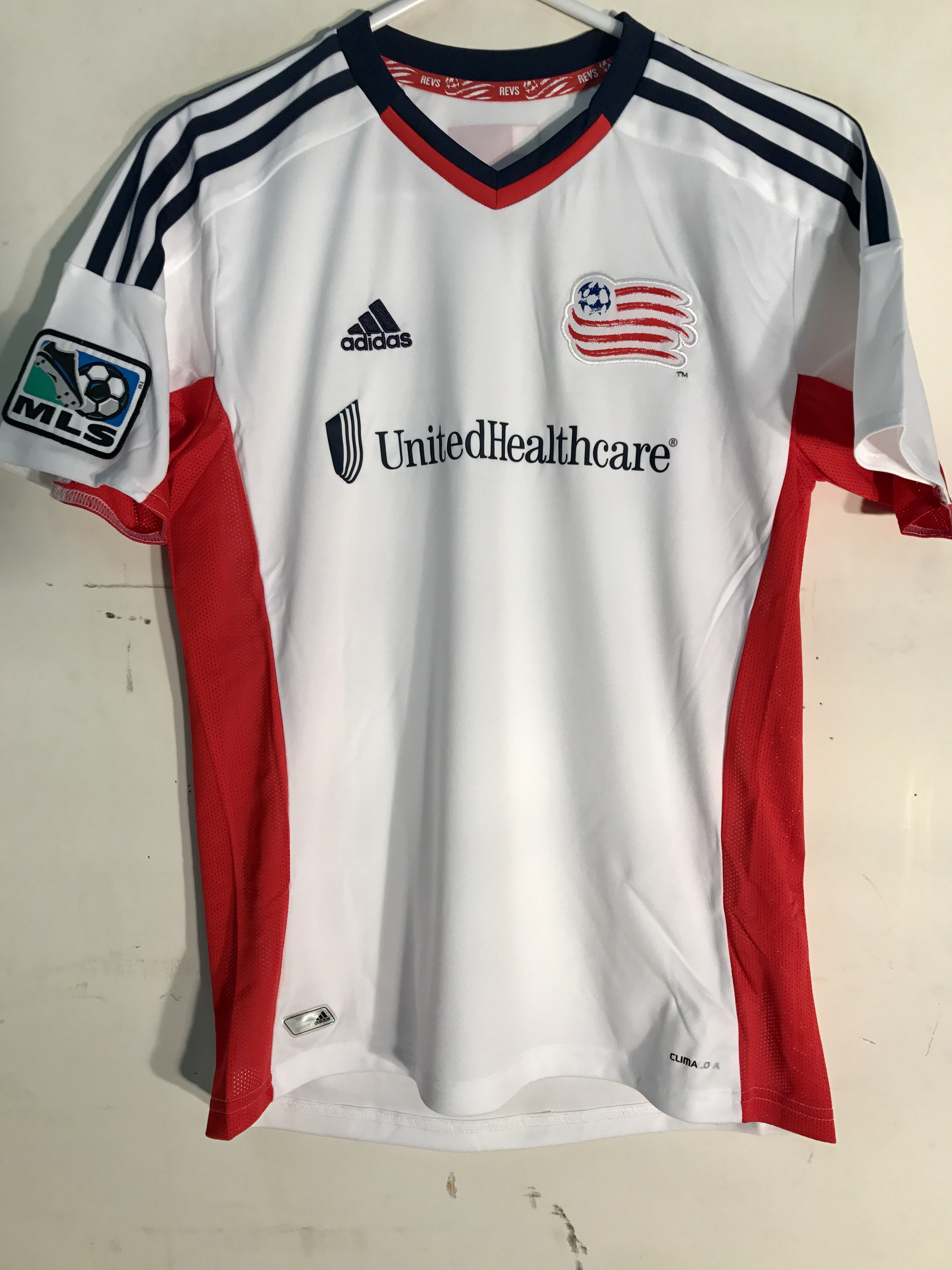 super popular 65b7f 1733f Details about Adidas Youth MLS Jersey New England Revolution White sz S