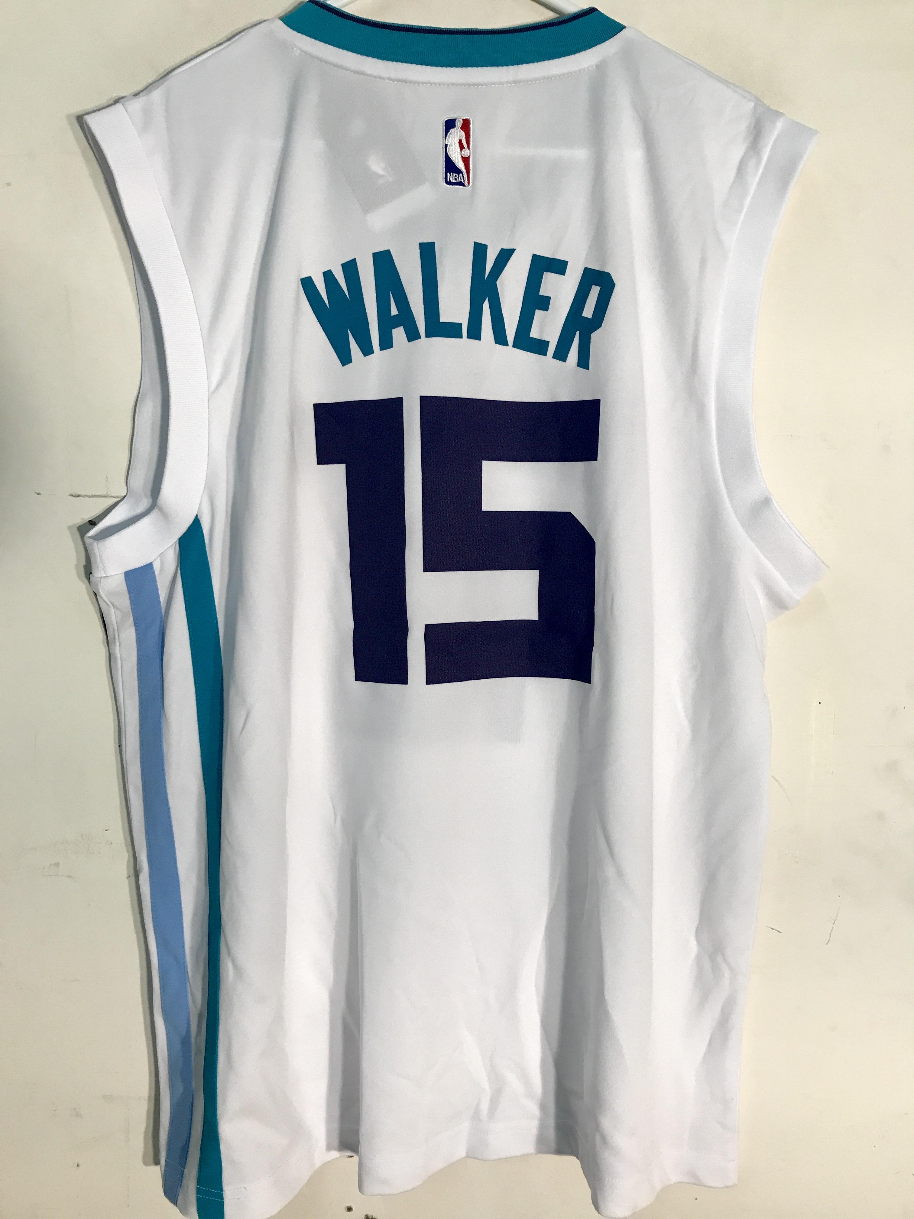 54ed54759 Adidas NBA Jersey Charlotte Hornets Kemba Walker White sz M