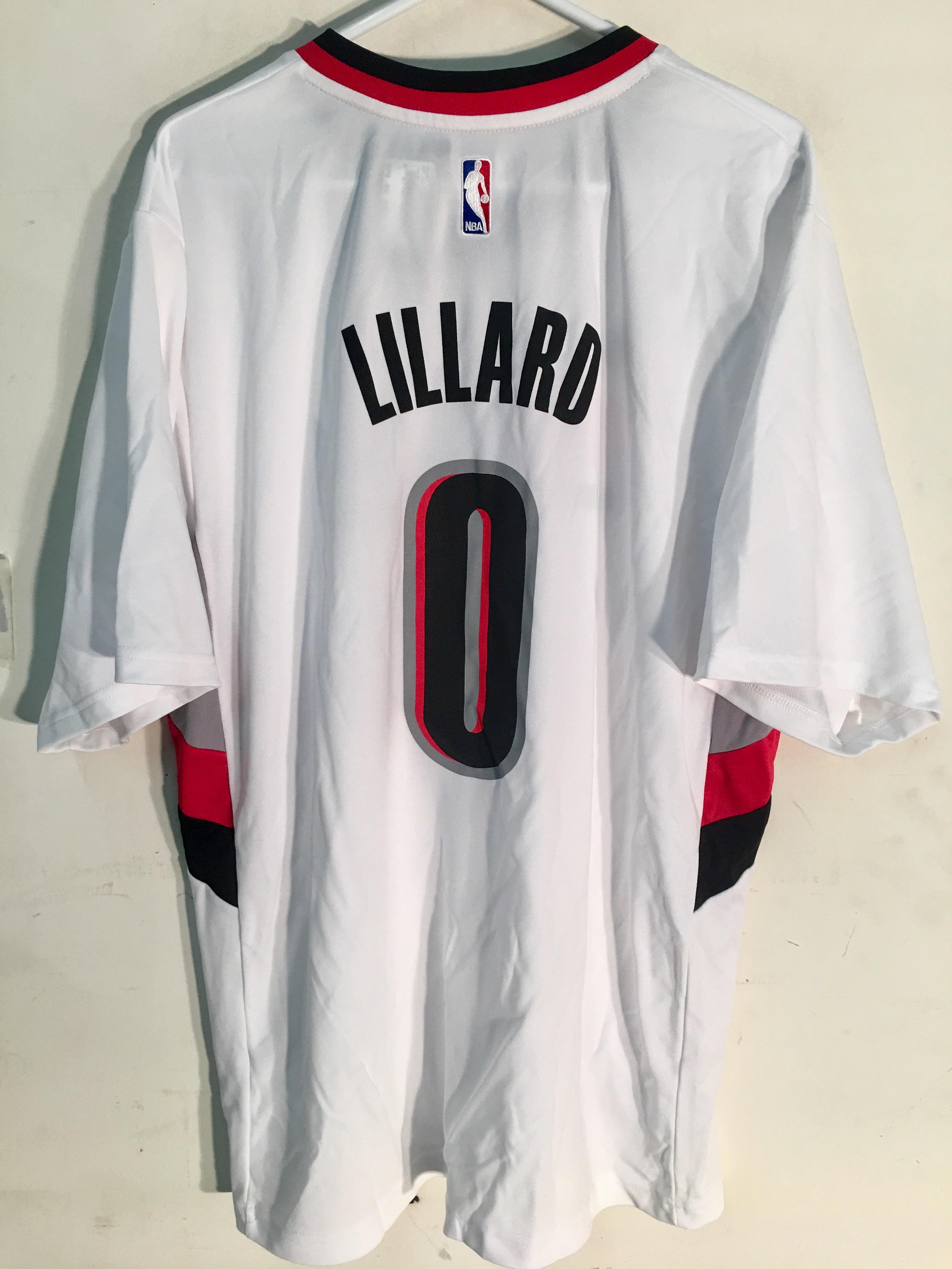 ba900b7e288 Details about Adidas NBA Jersey Portland Trailblazers Damian Lillard White  SS sz 2X