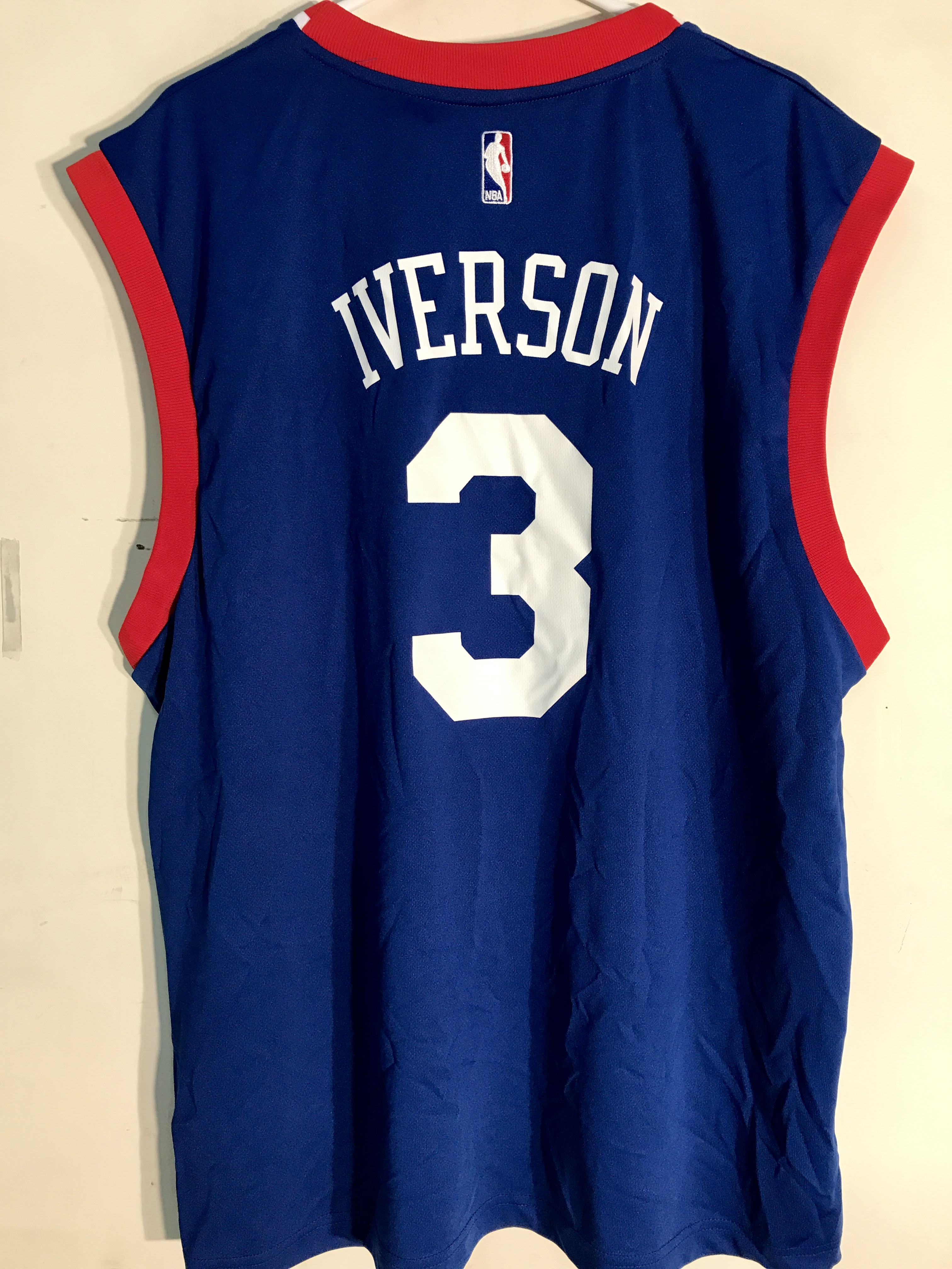 90cabce7c220 Adidas NBA Jersey Philadelphia 76ers Allen Iverson Blue sz XL