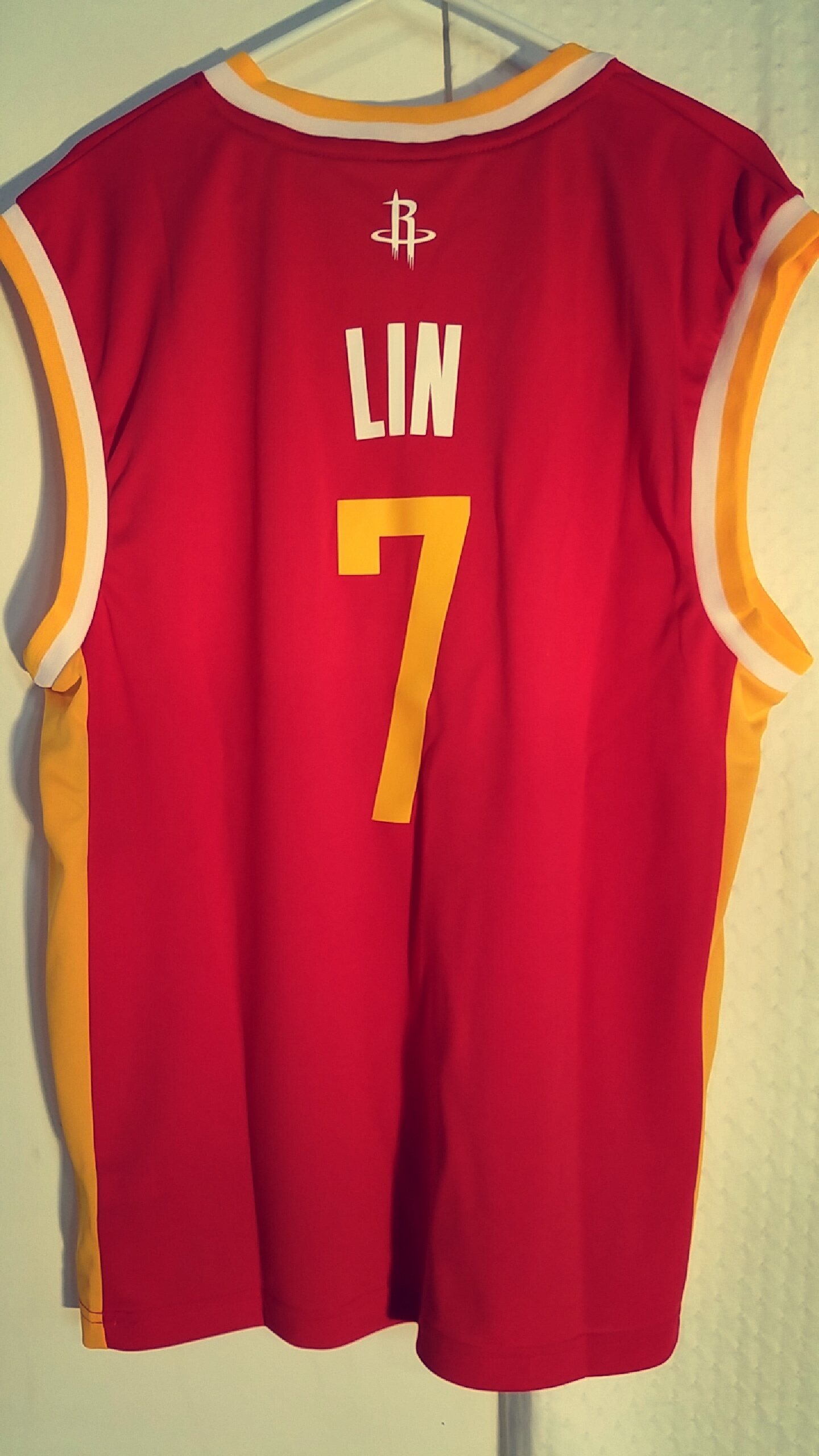 c1cba9d99 Adidas NBA Jersey Houston Rockets Jeremy Lin Red Alt sz L