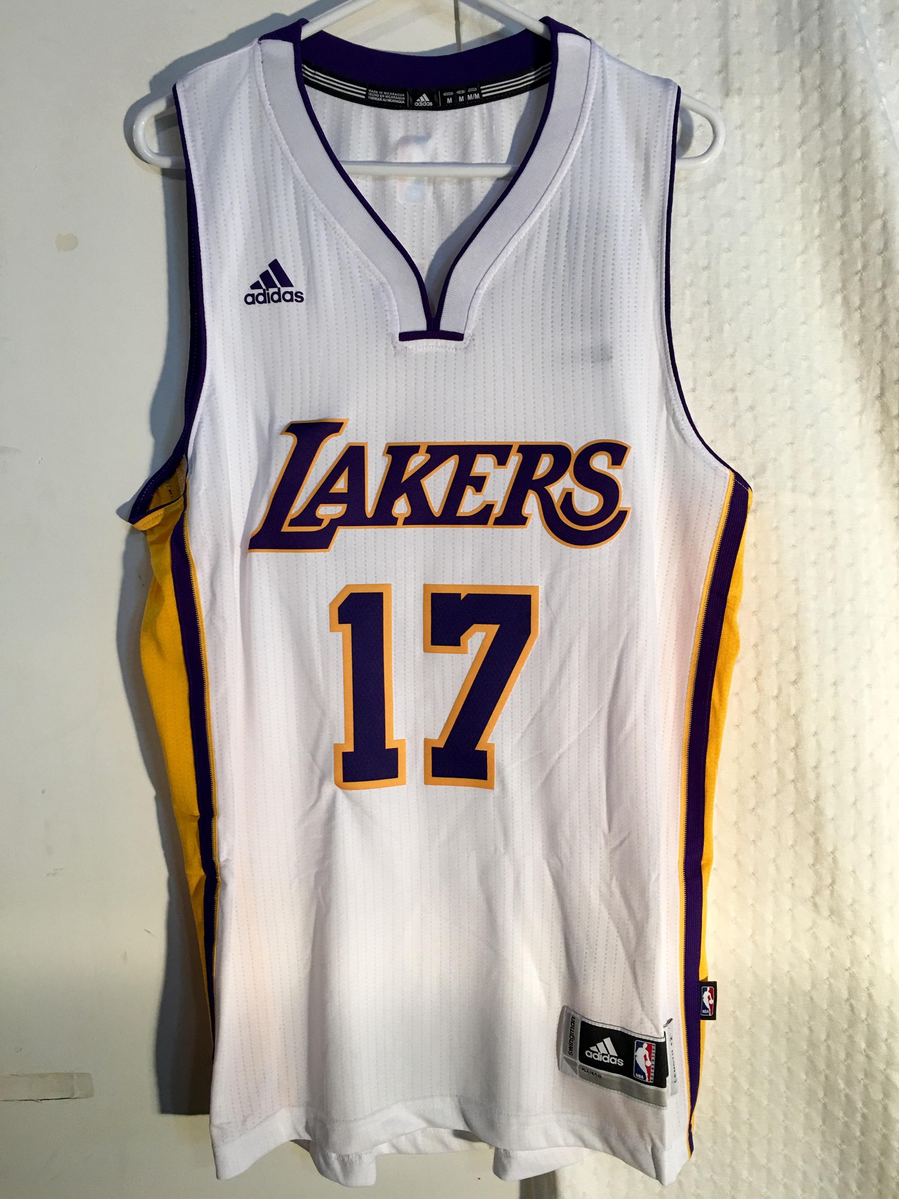 38858fcf615 Adidas Swingman NBA Jersey Los Angeles Lakers Jeremy Lin White sz XL ...